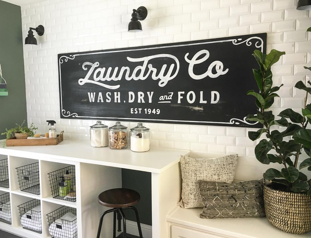 Laundry Room Signs – Home Decor Ideas – Editorial Ink For Personalized Mint Distressed Vintage Look Laundry Metal Sign Wall Decor (View 15 of 30)
