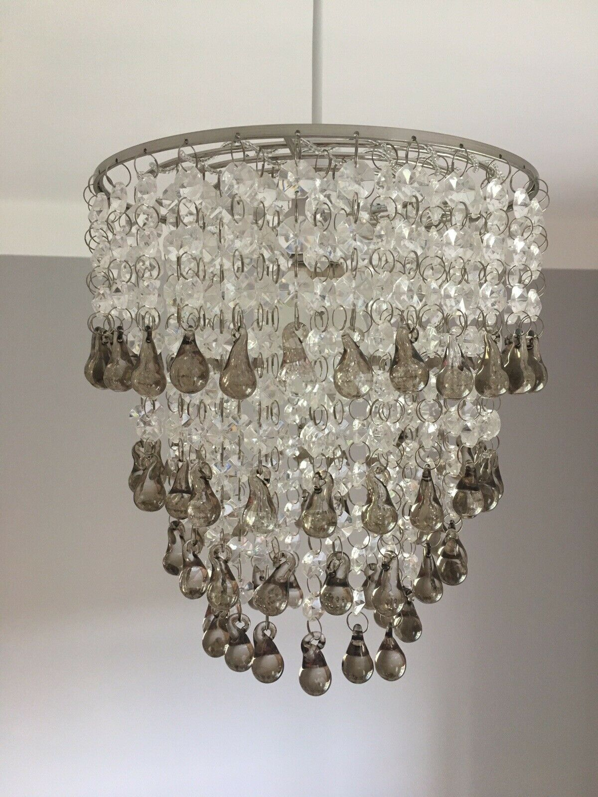 Laura Ashley 'Carmen' Easy Fit Chandelier / Pendant With Smoked Glass  Droplets intended for Sinead 4-Light Chandeliers (Image 21 of 30)