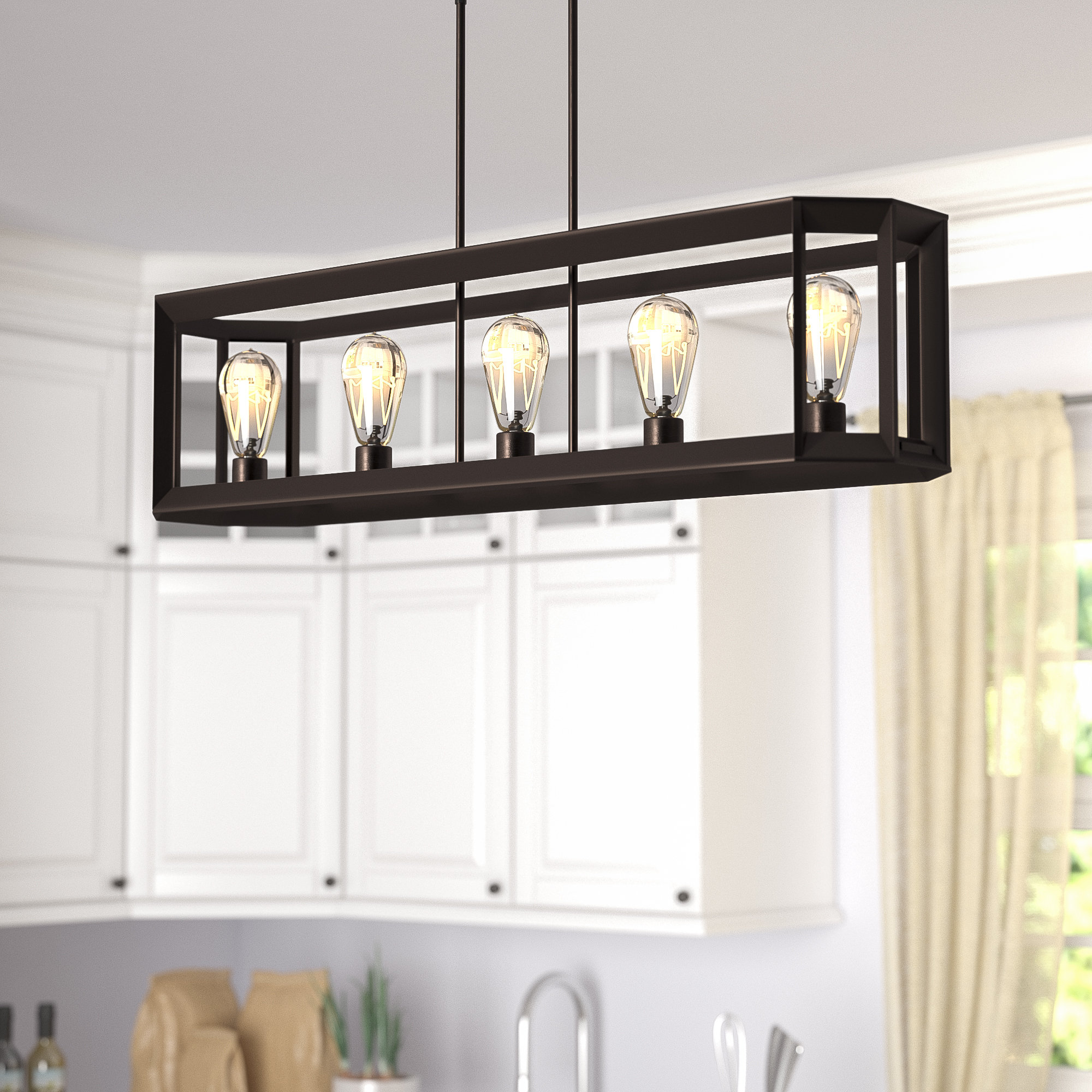 Laurel Foundry Modern Farmhouse Bouvet 5 Light Kitchen Within Hinerman 5 Light Kitchen Island Pendants (View 9 of 30)