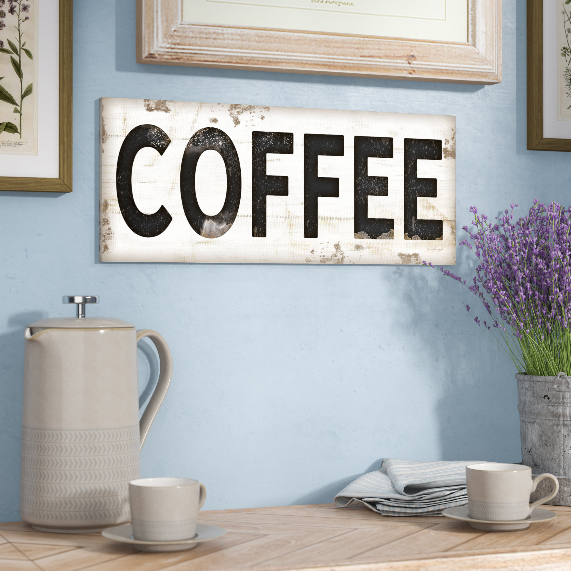Laurel Foundry Modern Farmhouse 'coffee Typography Vintage regarding Coffee Sign With Rebar Wall Decor (Image 10 of 30)