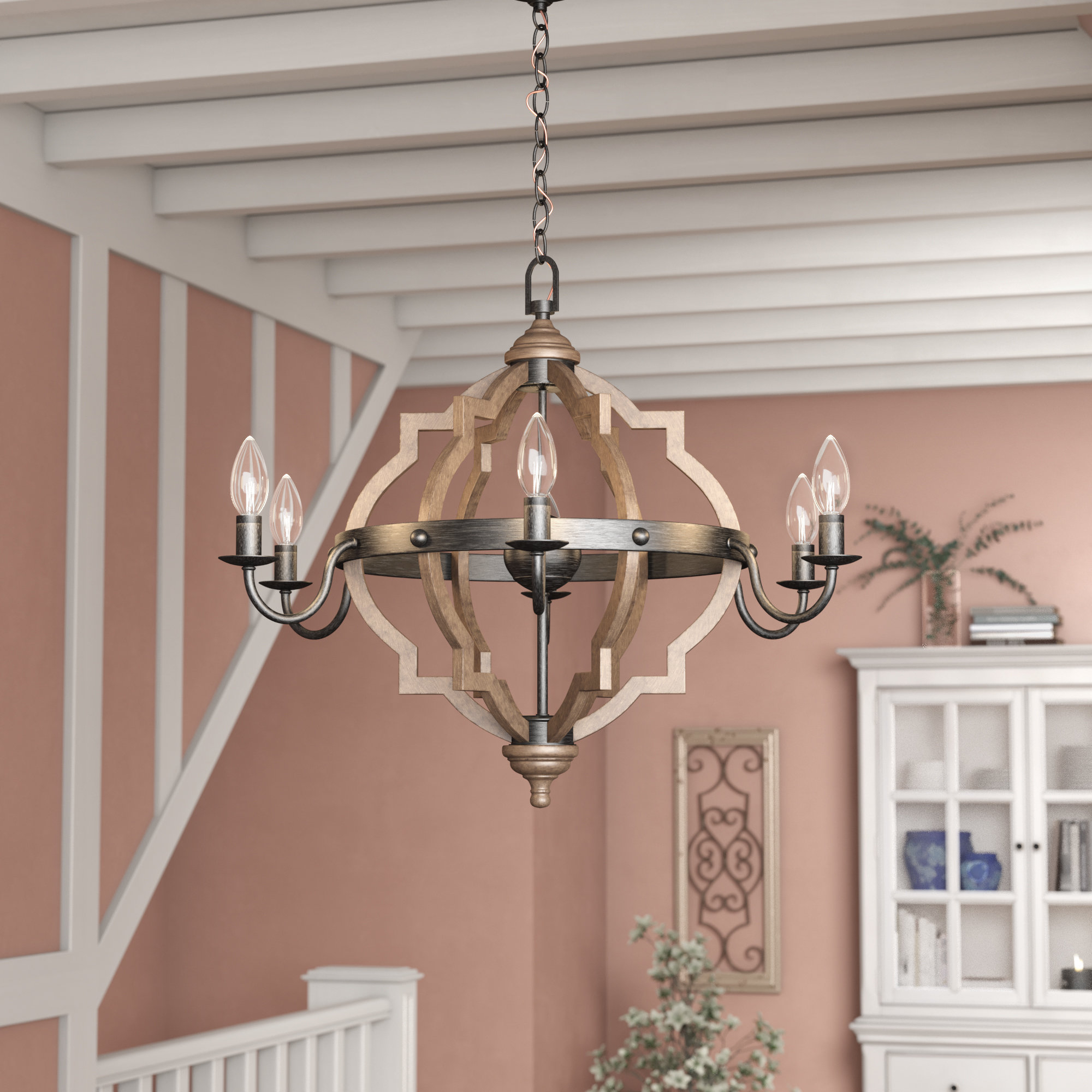 Laurel Foundry Modern Farmhouse Donna 6-Light Candle Style in Donna 6-Light Globe Chandeliers (Image 23 of 30)