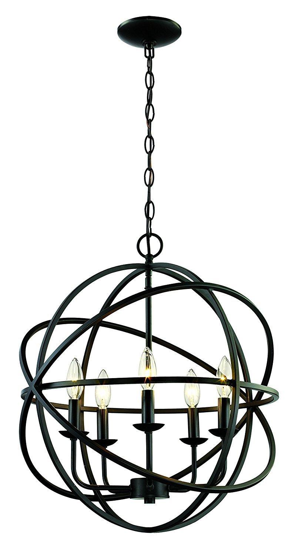 Laurel Foundry Modern Farmhouse Hankinson 5-Light Globe Chandelier intended for Waldron 5-Light Globe Chandeliers (Image 19 of 30)