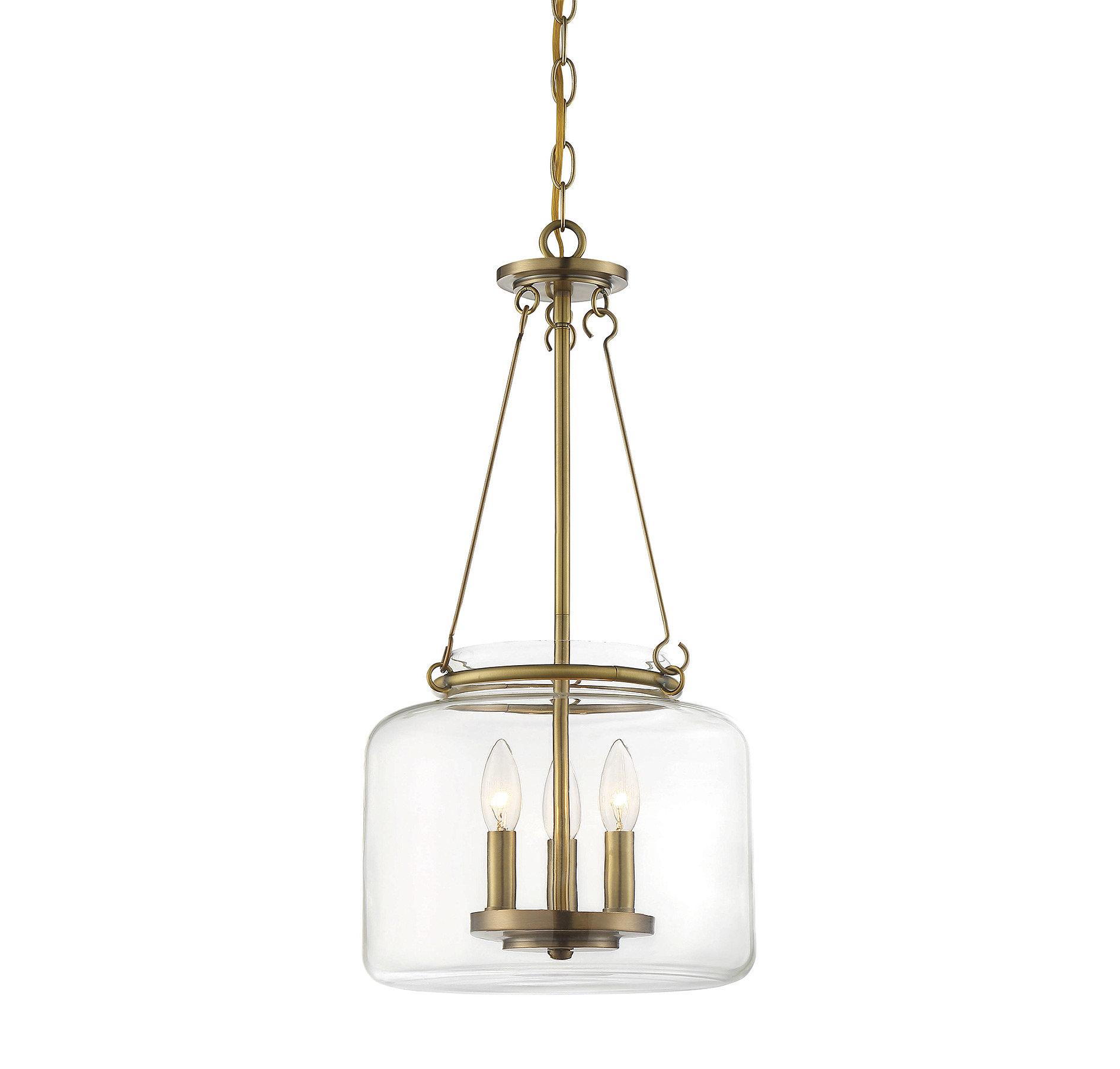 Laurel Foundry Modern Farmhouse Jean-Baptiste 3-Light Single Jar Pendant intended for Clematite 1-Light Single Jar Pendants (Image 21 of 30)