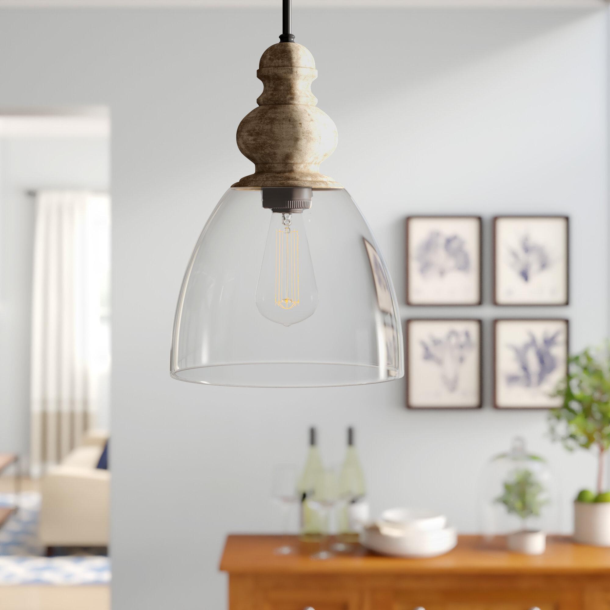 Laurel Foundry Modern Farmhouse Lemelle 1 Light Single Bell Pendant Pertaining To Akakios 1 Light Single Bell Pendants (Image 16 of 30)