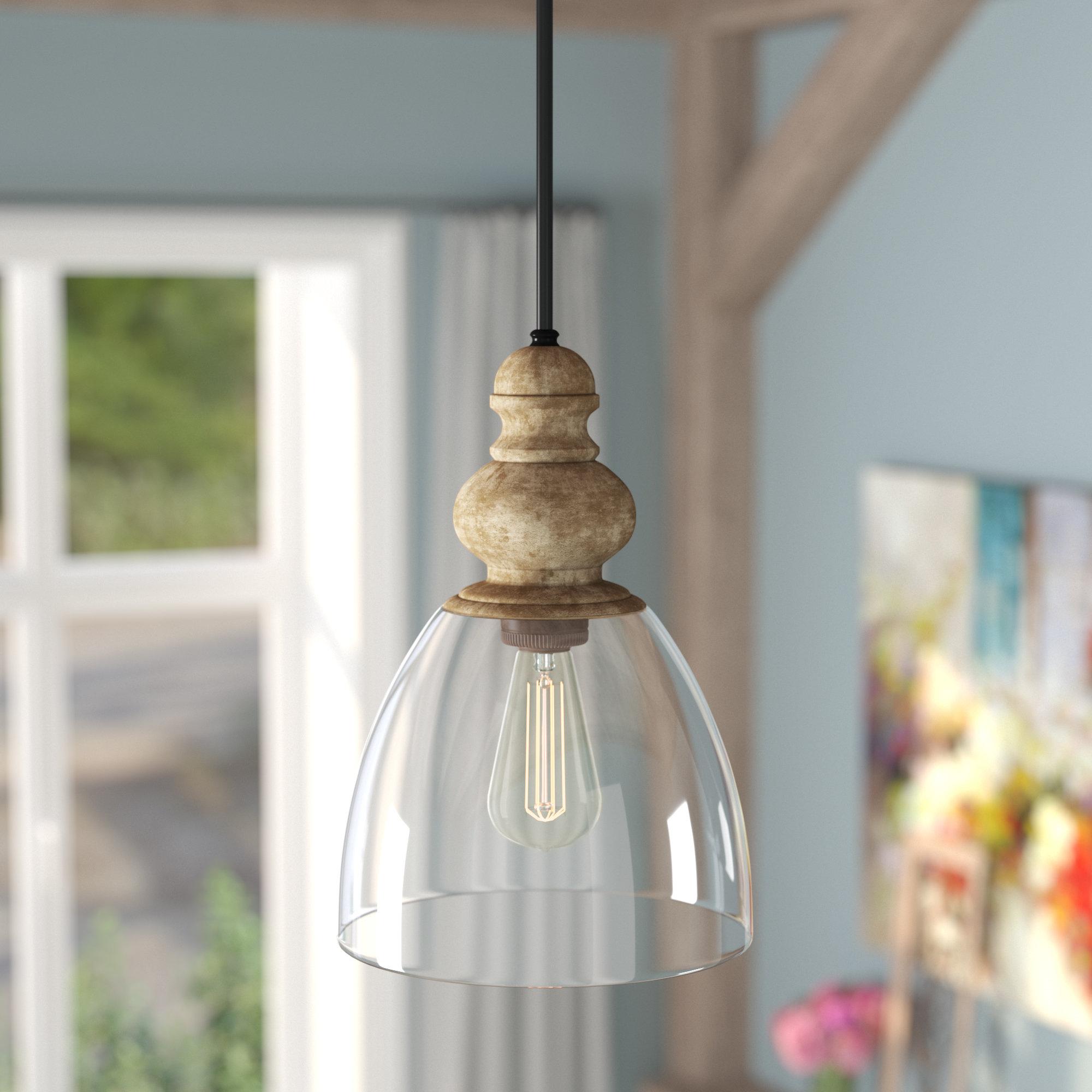 Laurel Foundry Modern Farmhouse Lemelle 1 Light Single Bell Throughout Akakios 1 Light Single Bell Pendants (Image 17 of 30)