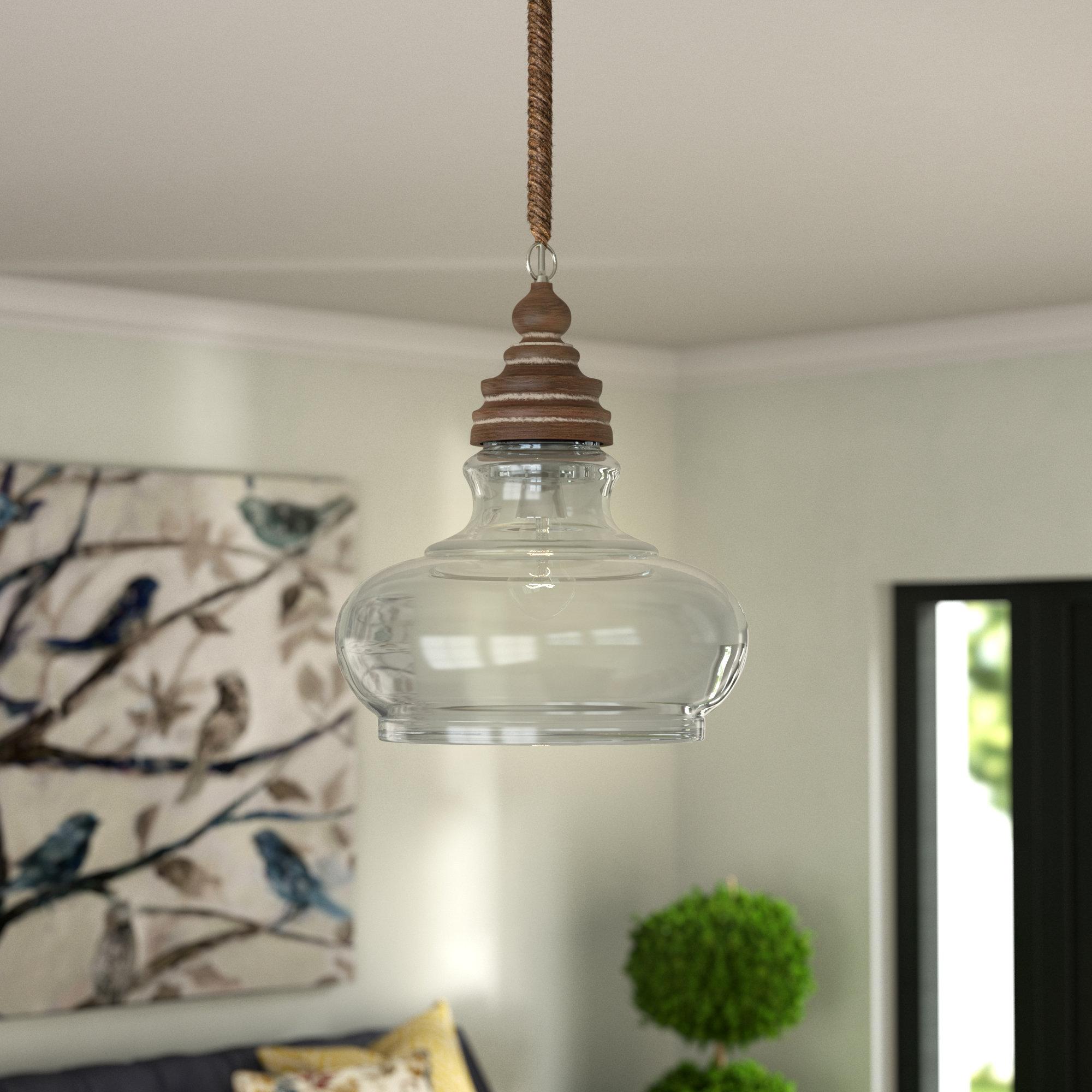Laurel Foundry Modern Farmhouse Maelle 1-Light Bell Pendant for Abernathy 1-Light Dome Pendants (Image 22 of 30)