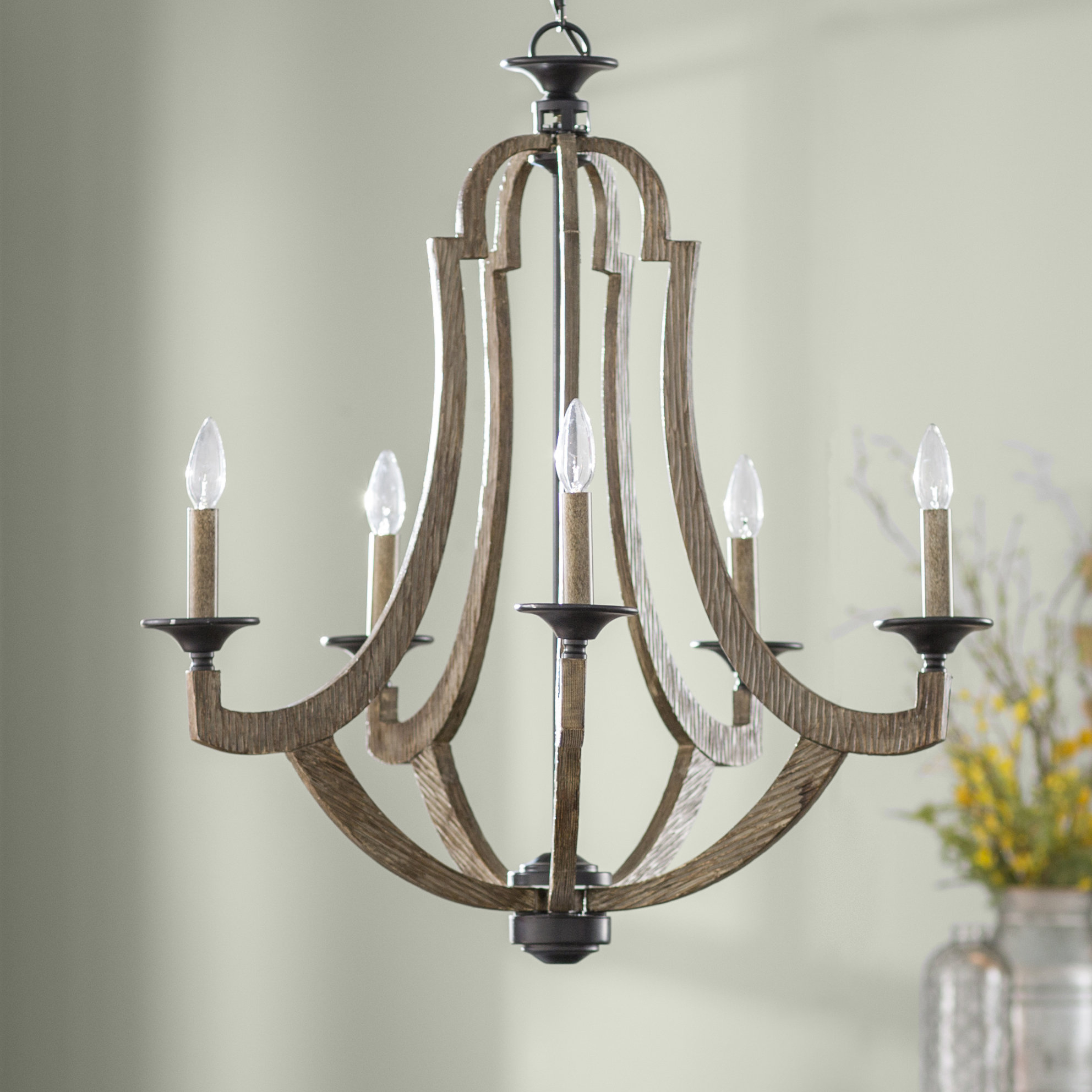 Laurel Foundry Modern Farmhouse Marcoux 5 Light Empire Chandelier In Duron 5 Light Empire Chandeliers (View 16 of 30)