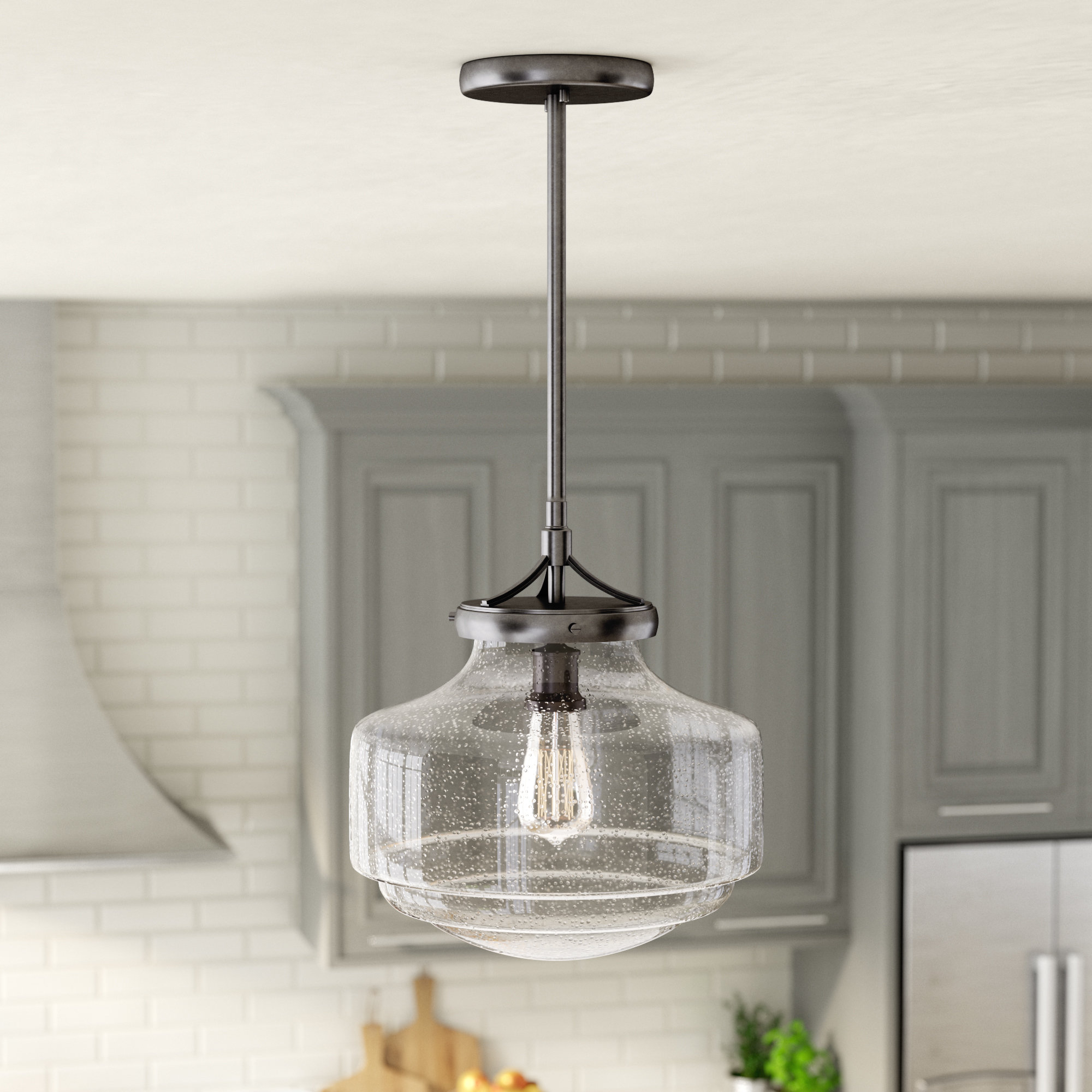 Laurel Foundry Modern Farmhouse Marybeth 1 Light Schoolhouse Within Nadine 1 Light Single Schoolhouse Pendants (View 24 of 30)