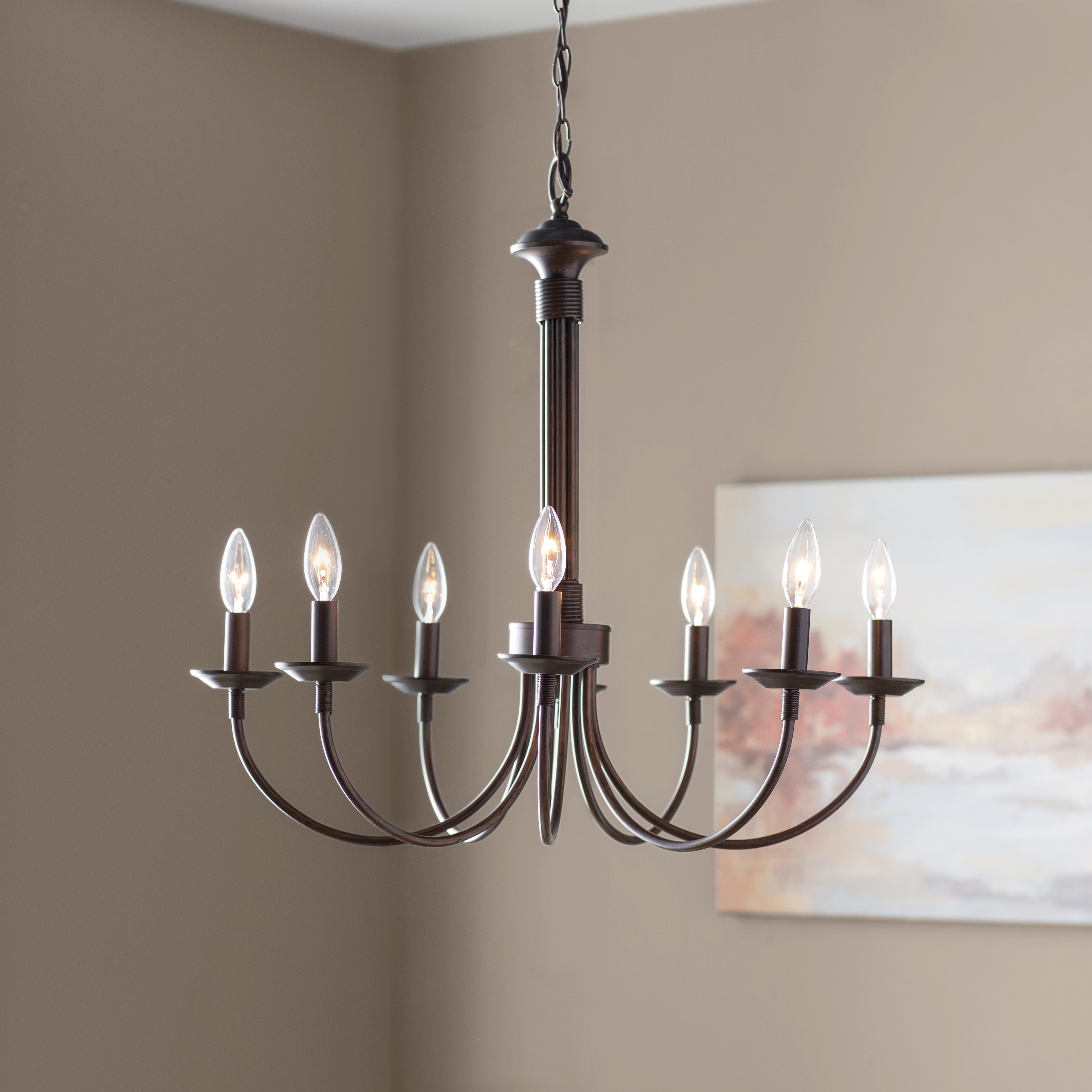 Laurel Foundry Modern Farmhouse Shaylee 8-Light Candle Style Chandelier in Annuziata 3-Light Unique/statement Chandeliers (Image 19 of 30)