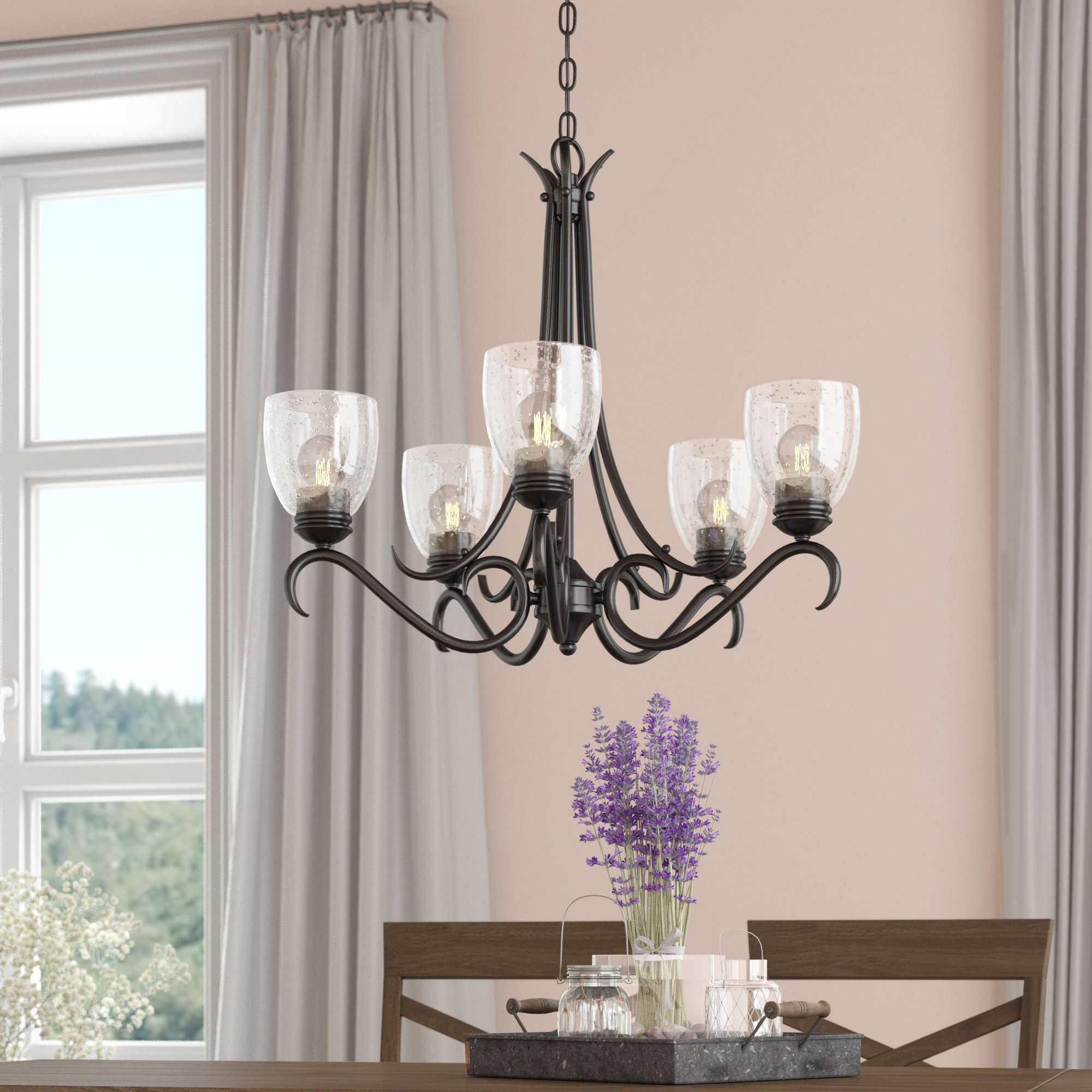 Laurel Foundry Modern Farmhouse Sheila 5 Light Shaded Within Gaines 5 Light Shaded Chandeliers (View 9 of 30)