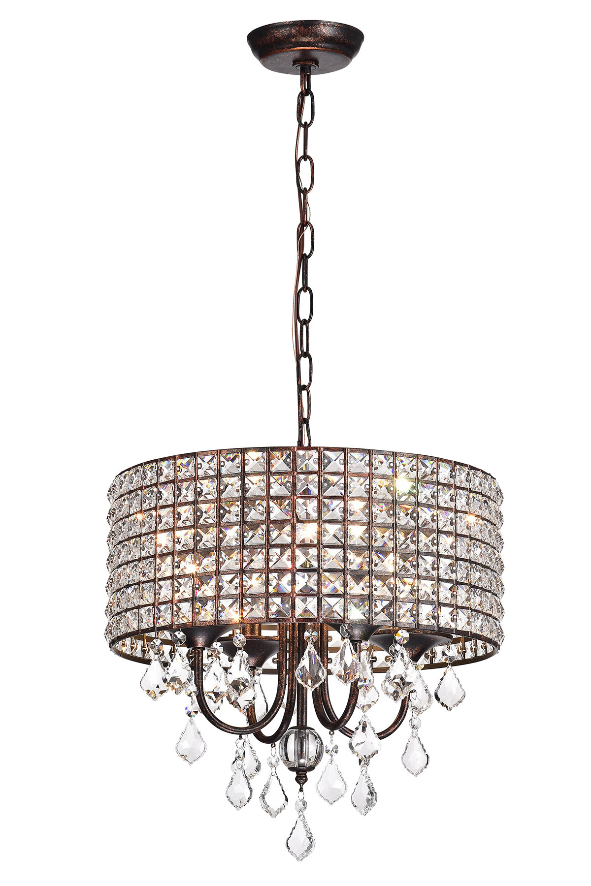 Lavada 4 Light Drum Chandelier With Regard To Albano 4 Light Crystal Chandeliers (Image 18 of 30)