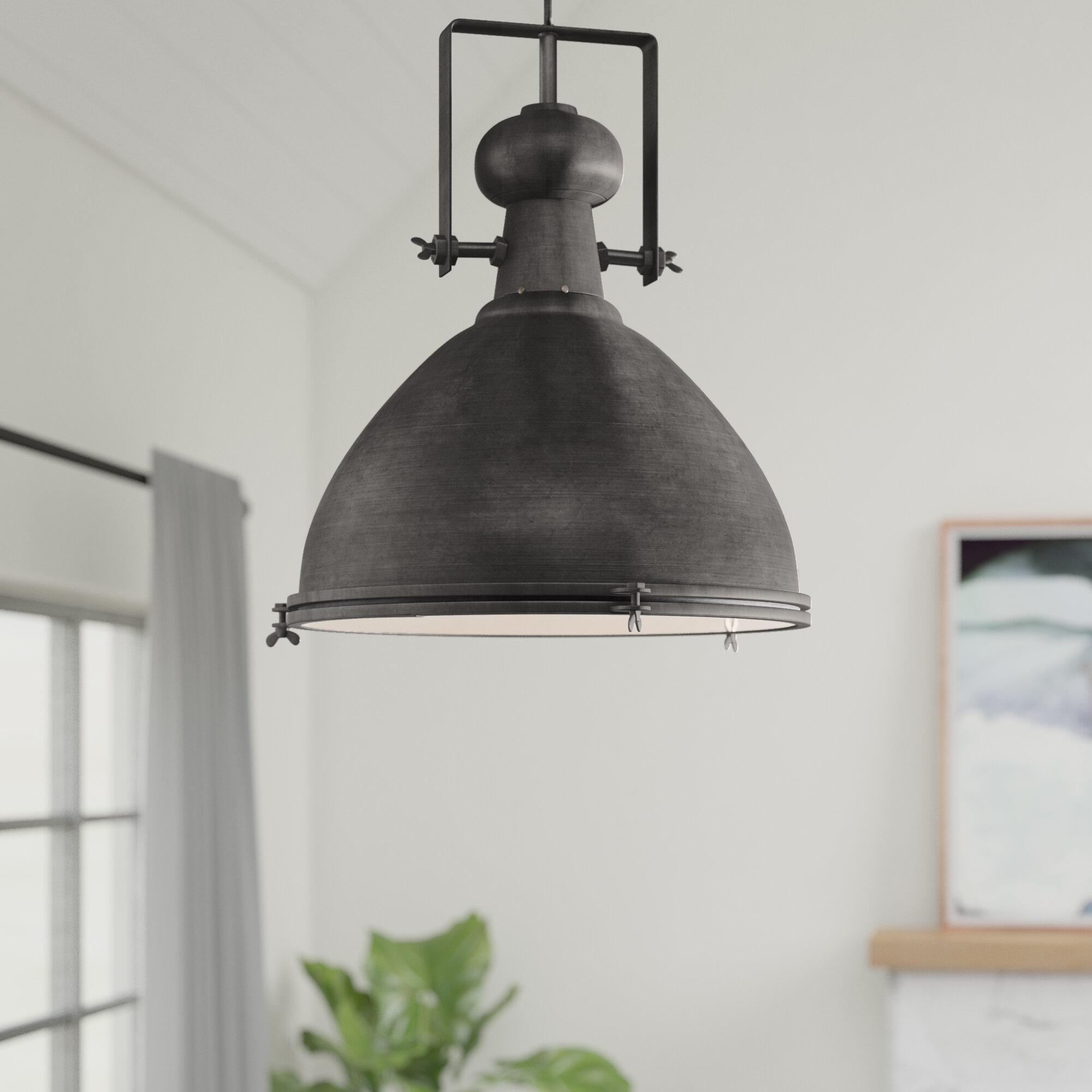 Lavern 1 Light Single Dome Pendant With Regard To Grullon Scroll 1 Light Single Bell Pendants (View 3 of 30)