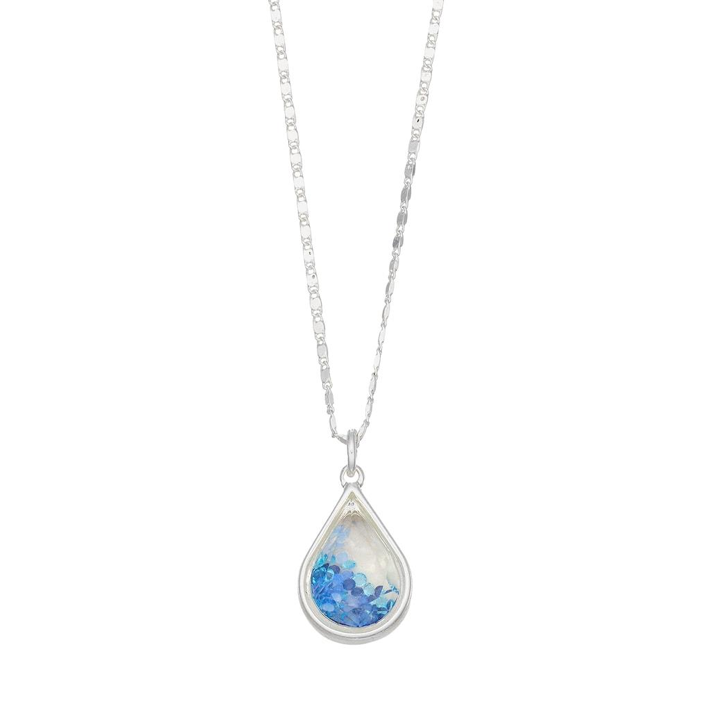 Lc Lauren Conrad Blue Teardrop Pendant | Products | Lauren with Conard 1-Light Single Teardrop Pendants (Image 20 of 30)