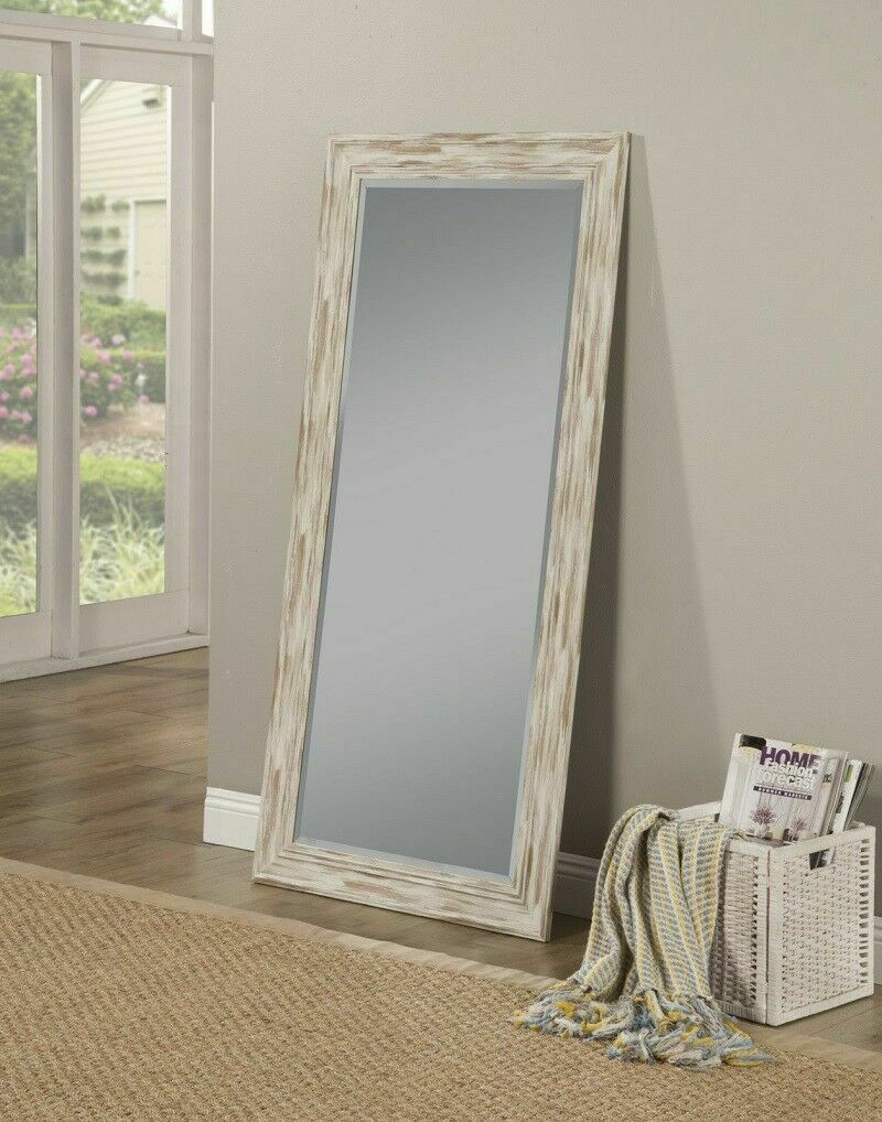Leaning Mirror Farmhouse Leaner Shabby Chic Country Rustic Wall Mounted Large Within Leaning Mirrors (View 17 of 30)