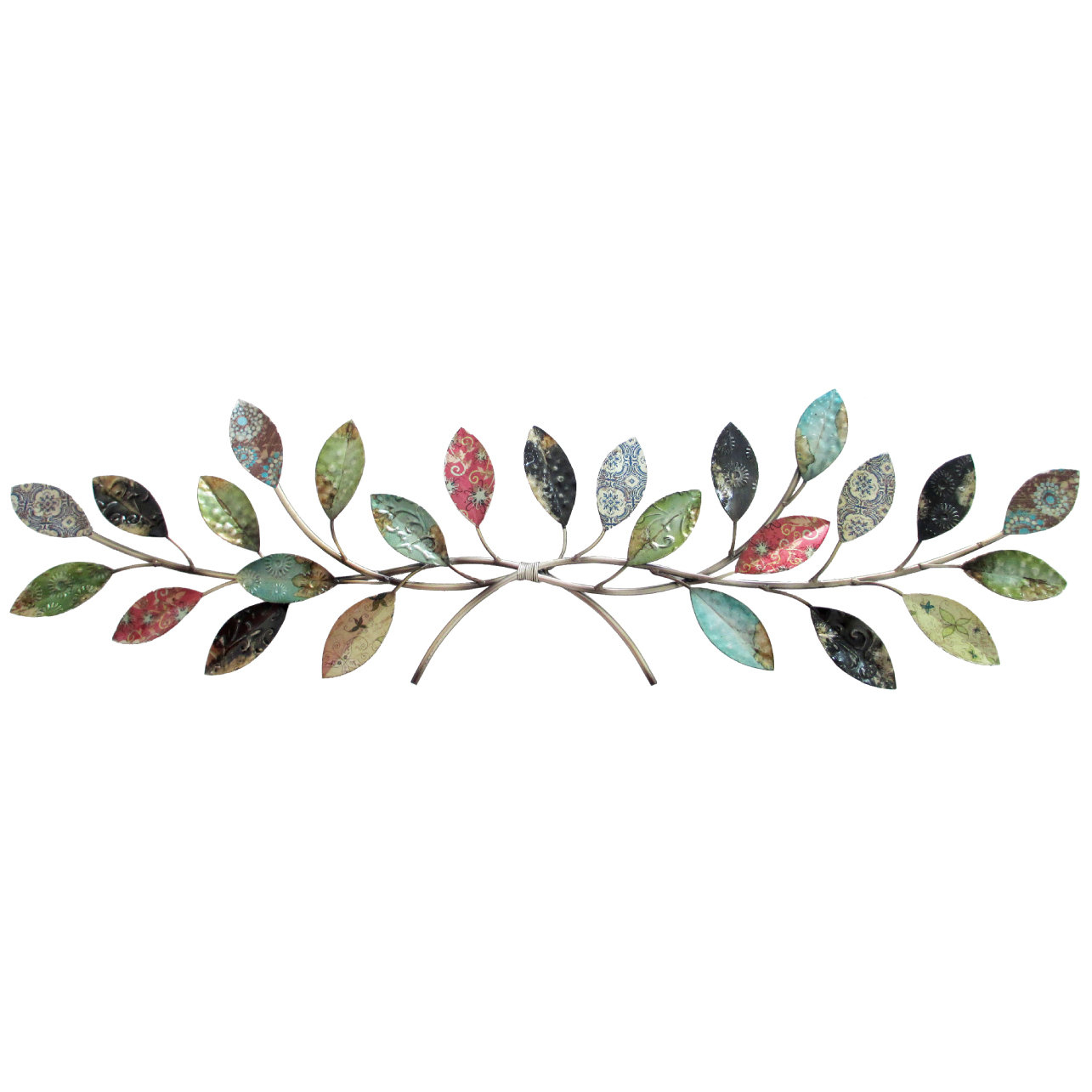 Leaves Metal Sculpture Wall Décor Throughout Leaves Metal Sculpture Wall Decor (View 2 of 30)