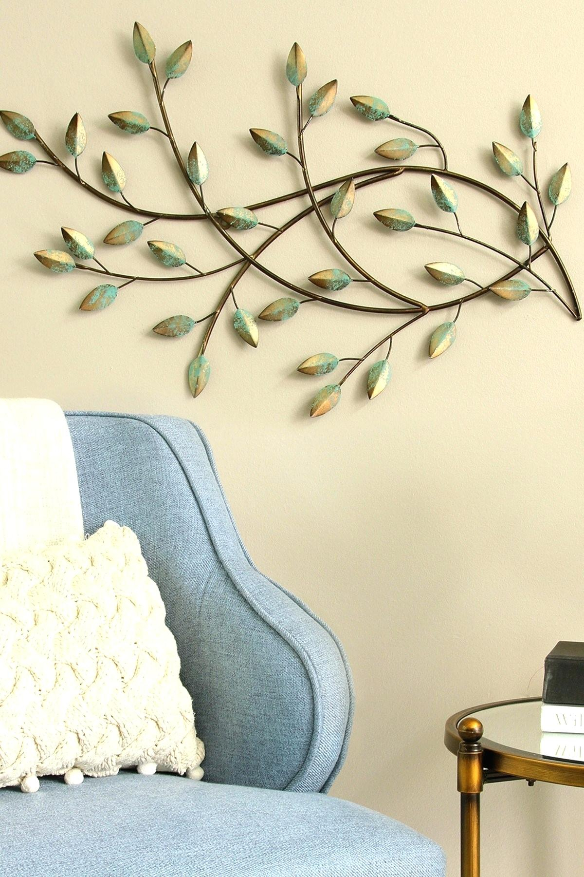 Leaves Wall Decor – Kendramonterroso.co throughout Metal Wall Decor By Charlton Home (Image 22 of 30)