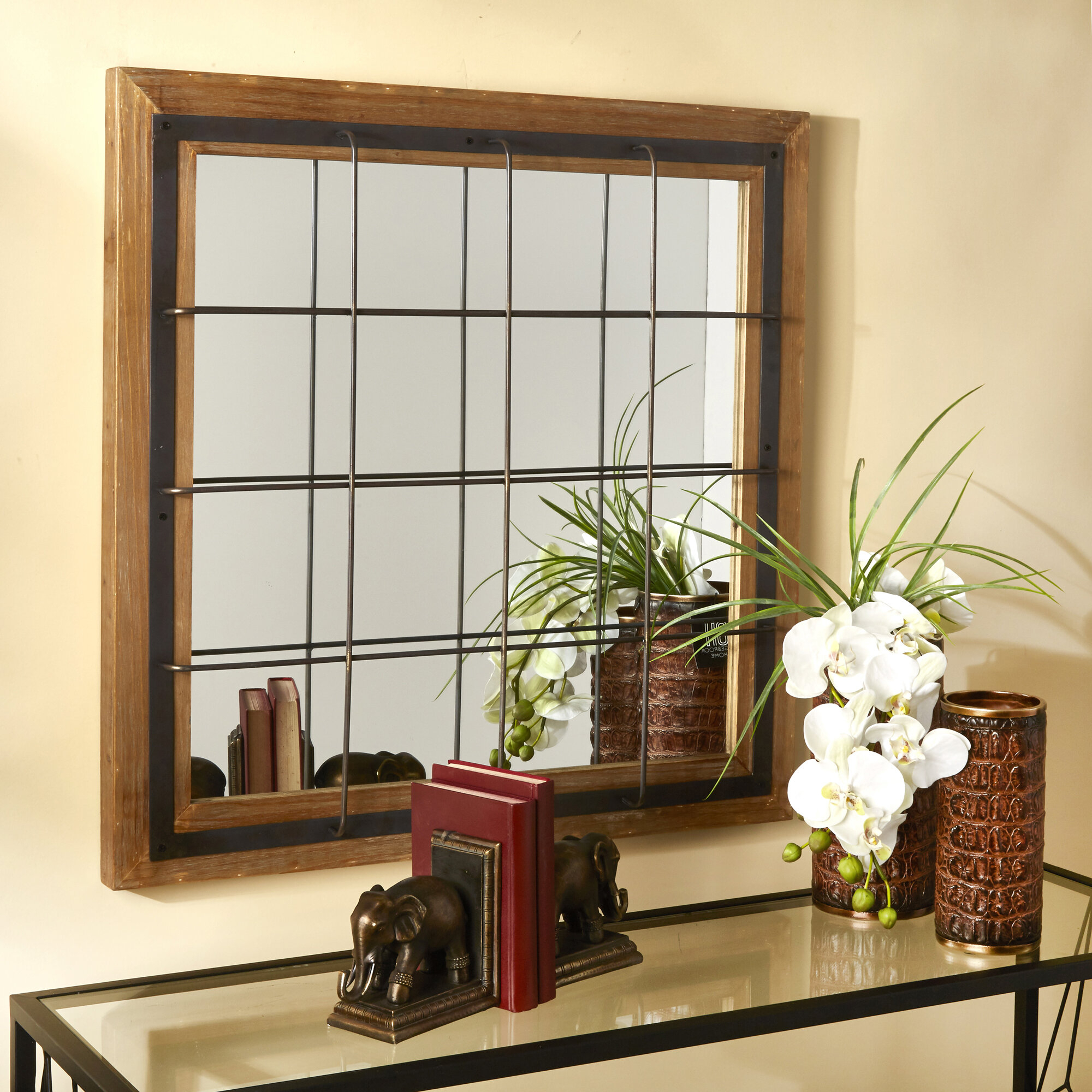 Leclair Windowpane Mirror Regarding Polito Cottage/country Wall Mirrors (Image 17 of 30)