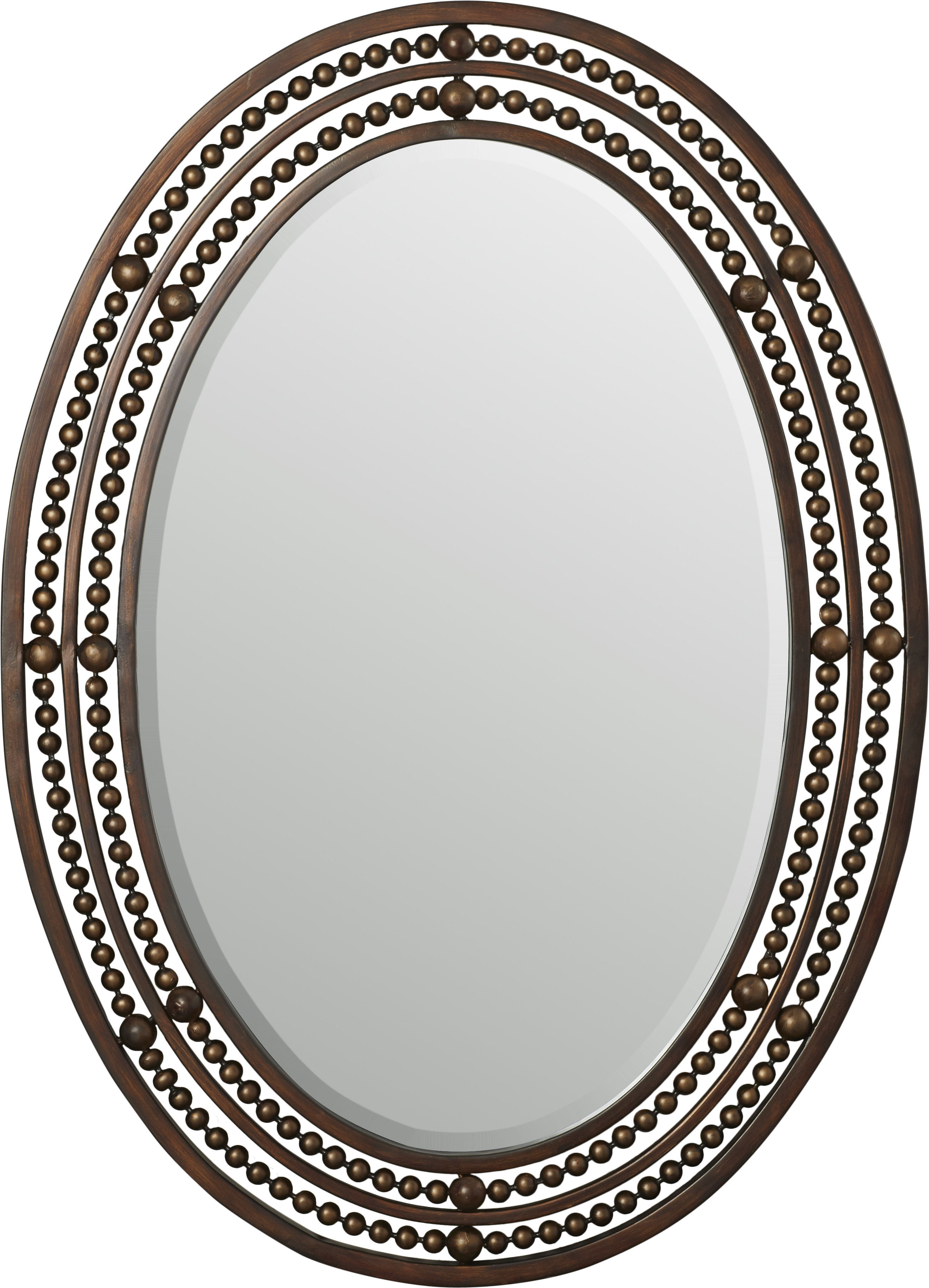Leeper Oval Wall Mirror Inside Maude Accent Mirrors (View 23 of 30)
