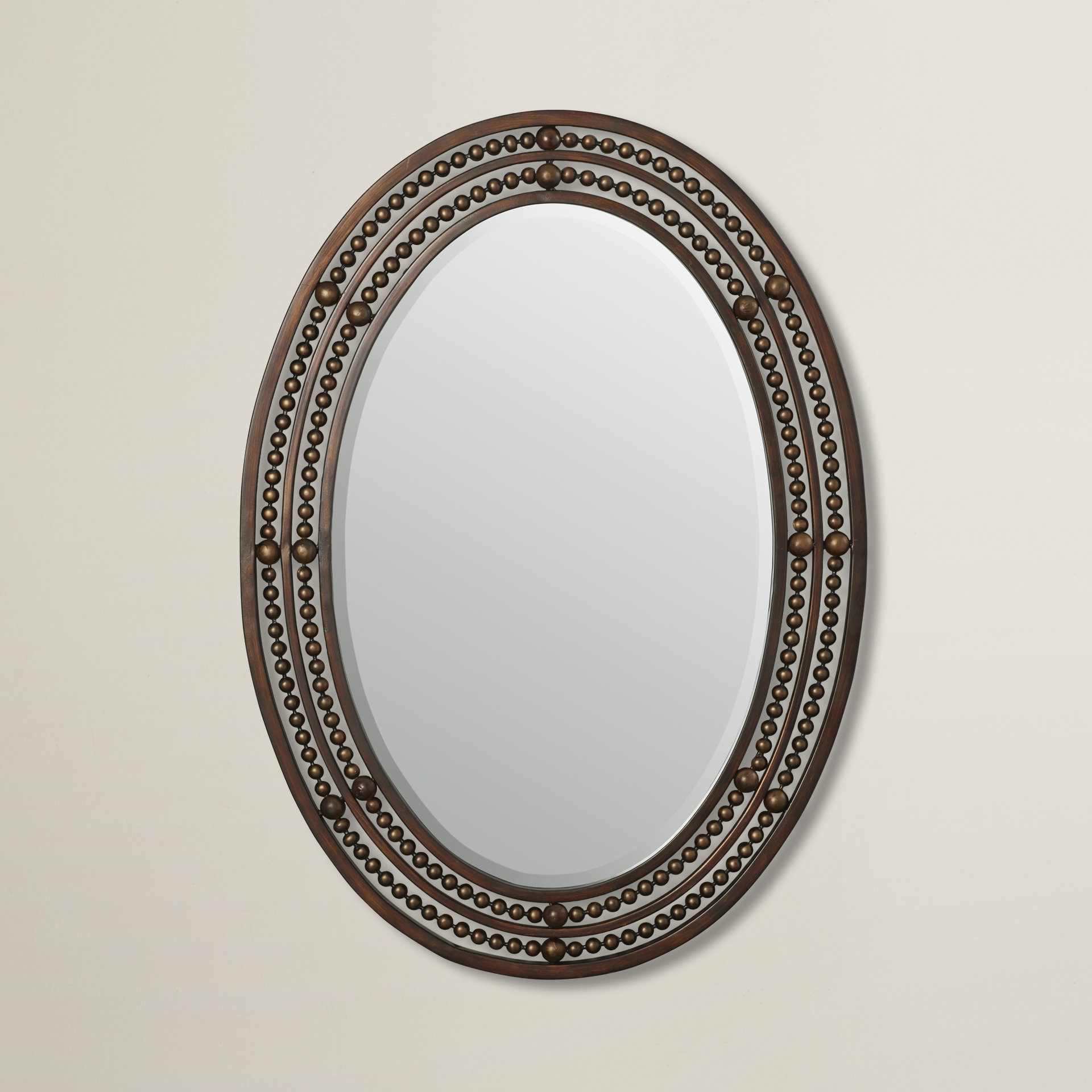 Leeper Oval Wall Mirror Within Maude Accent Mirrors (View 16 of 30)