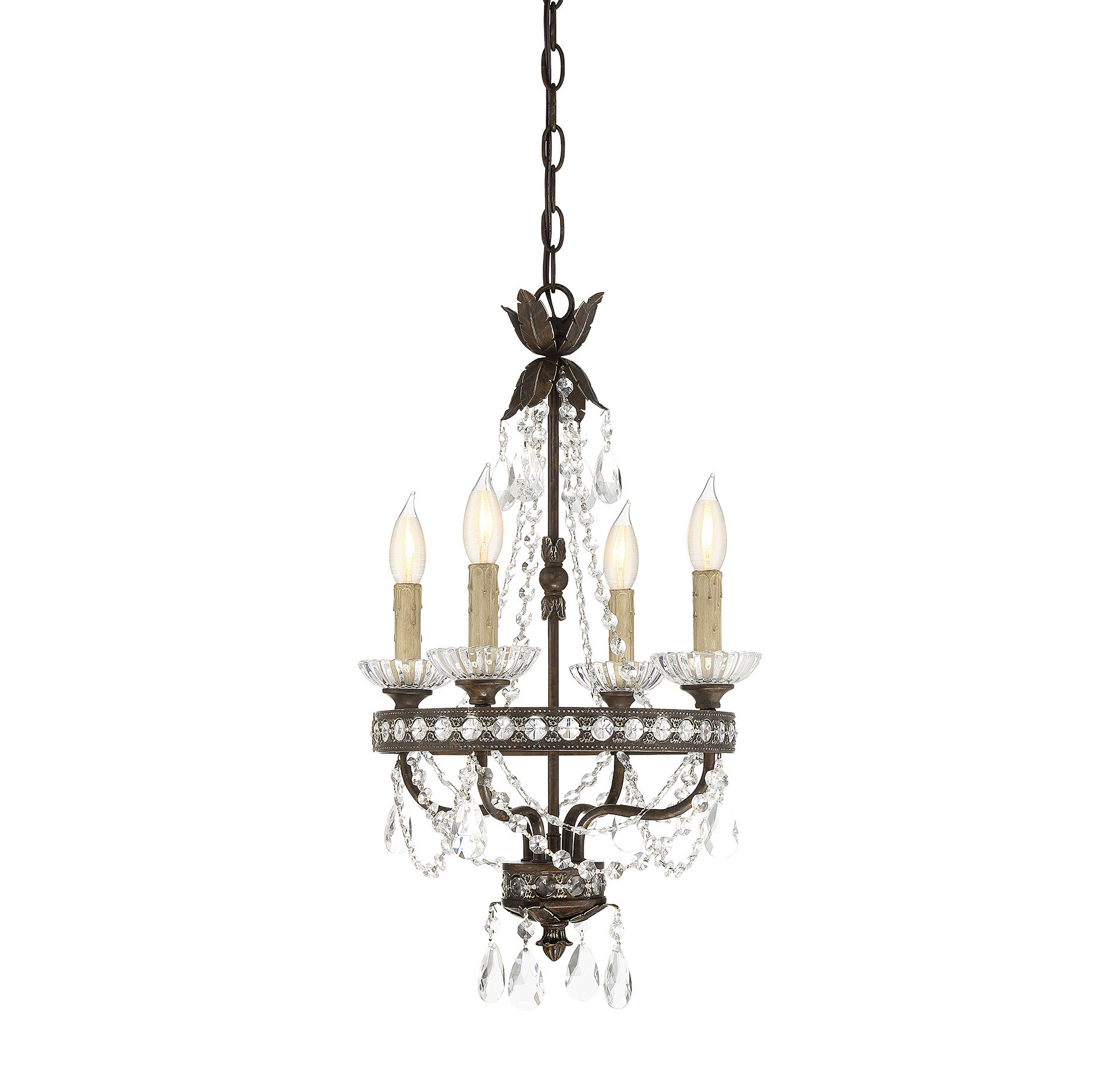 Lefler 4 Light Candle Style Chandelier Within Hesse 5 Light Candle Style Chandeliers (View 13 of 30)