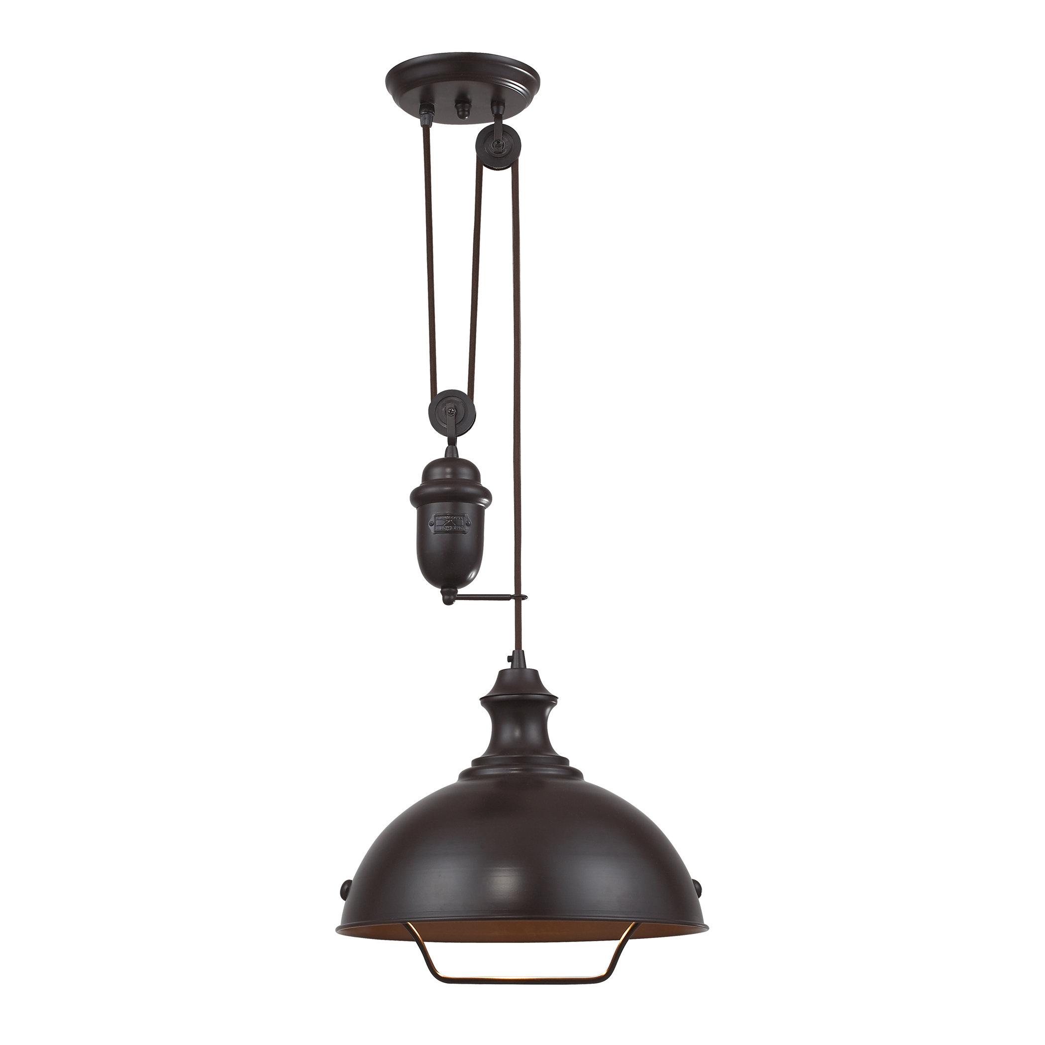 Legrand 1 Light Single Dome Pendant & Reviews | Joss & Main Within Ariel 2 Light Kitchen Island Dome Pendants (Image 23 of 30)