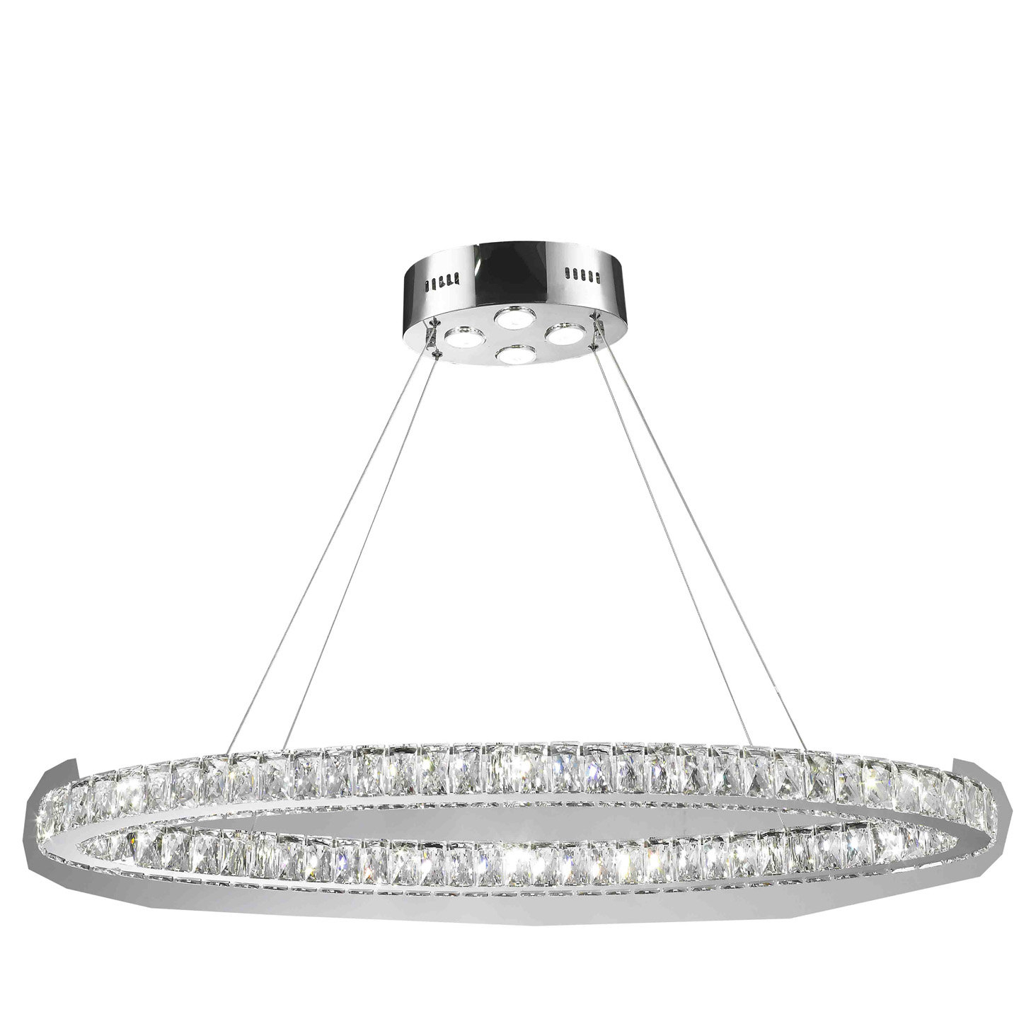 Leiter 20 Light Led Crystal Chandelier Regarding Duron 5 Light Empire Chandeliers (View 23 of 30)