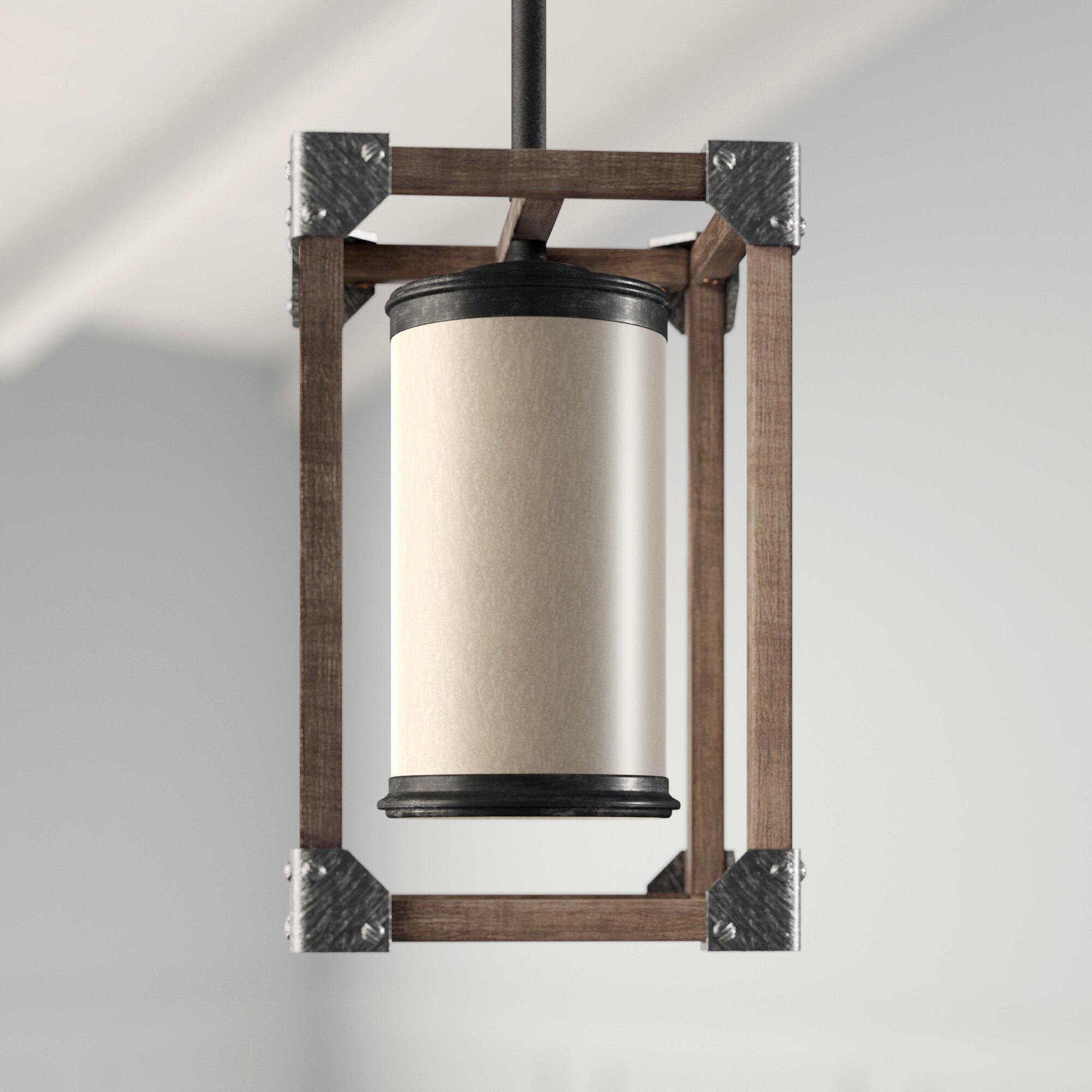 Leitha 1 Light Square/rectangle Pendant Inside Moyer 1 Light Single Cylinder Pendants (View 13 of 30)