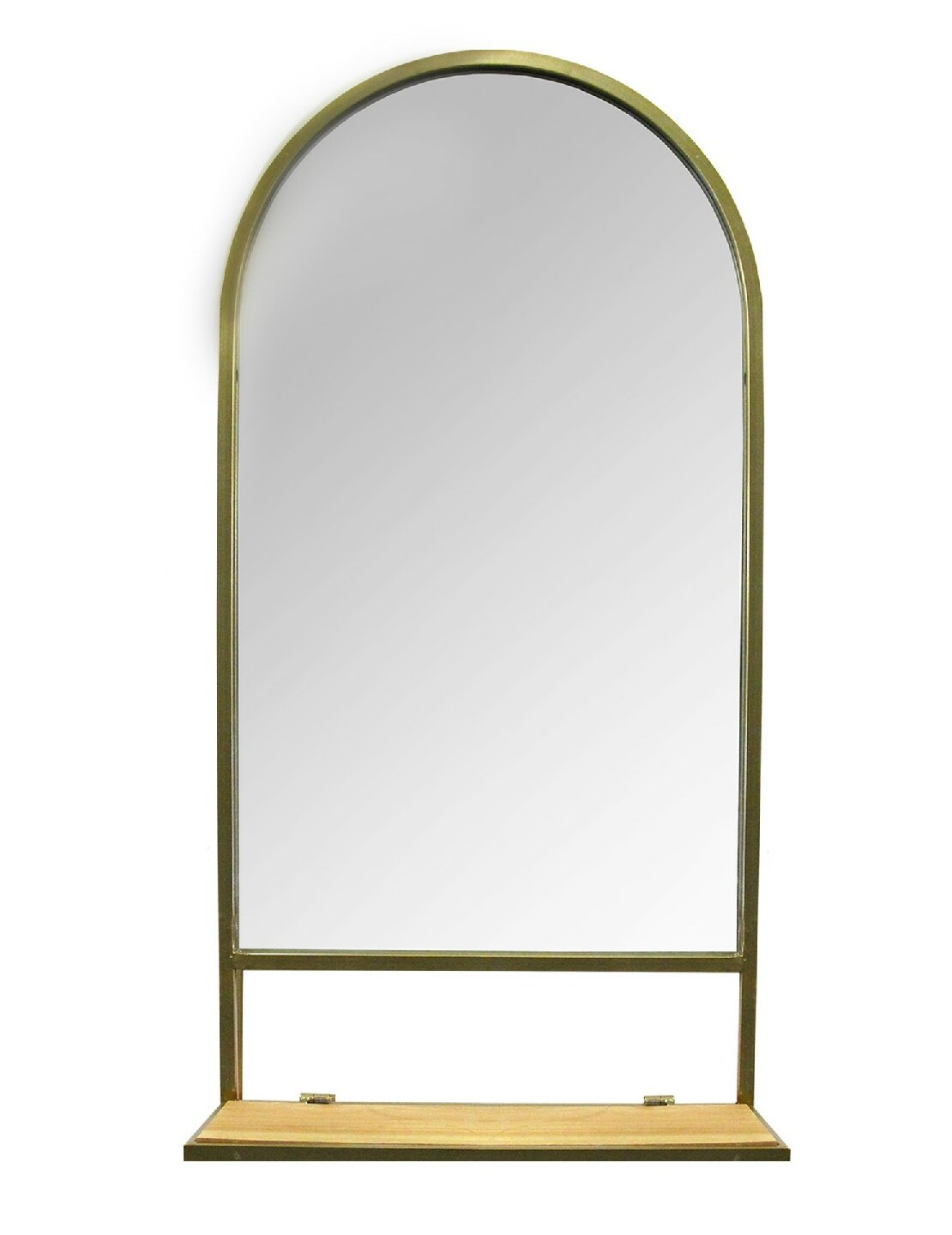 Leroux Modern With Shelves Accent Mirror with Minerva Accent Mirrors (Image 14 of 30)