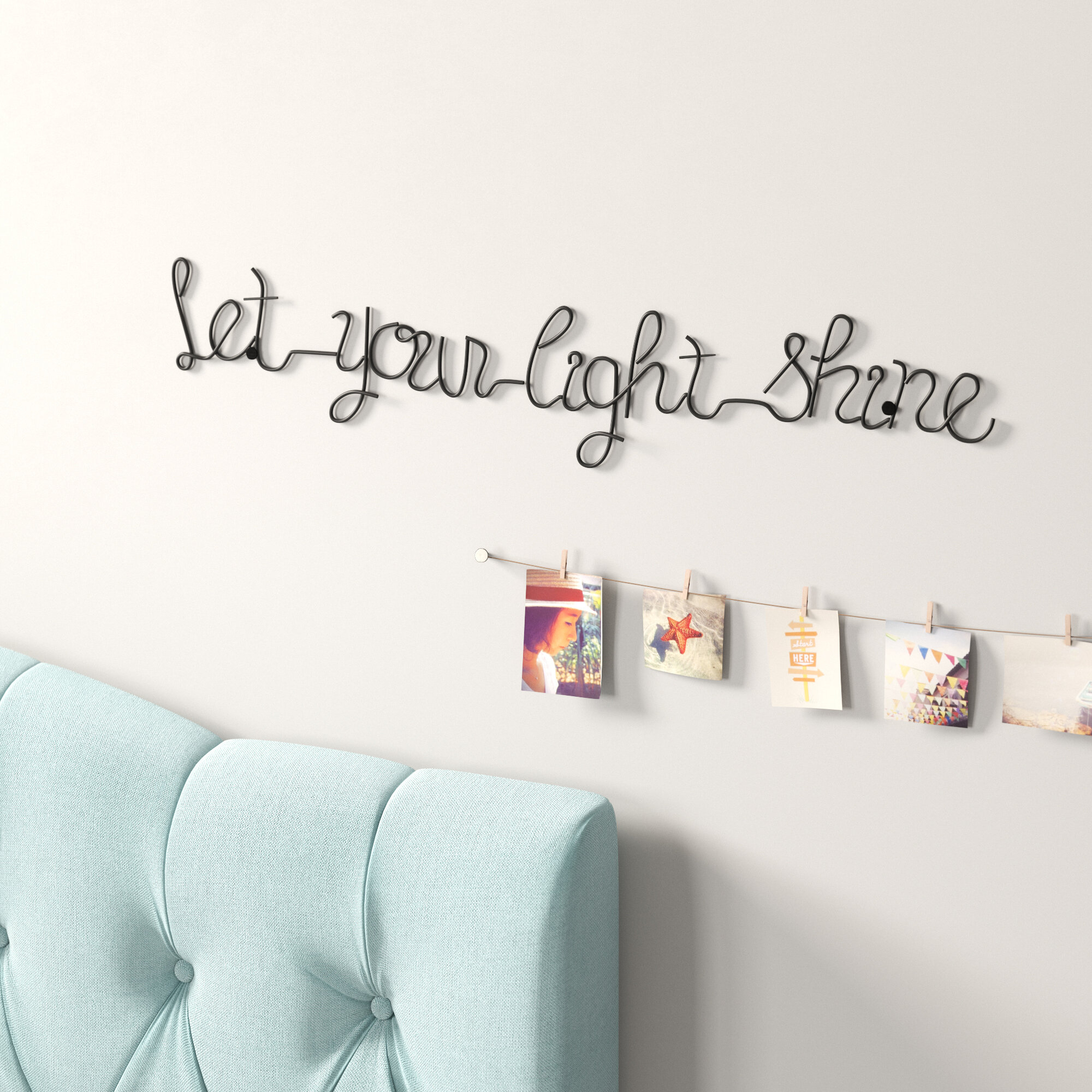 Let Your Light Shine Metal Wall Décor pertaining to Metal Wall Decor by Winston Porter (Image 16 of 30)