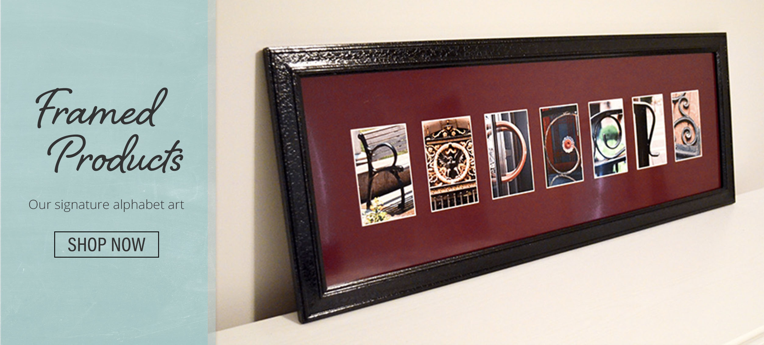 """Letter Artframe The Alphabet in In-a-Word """"welcome"""" Wall Decor (Image 13 of 30)"""