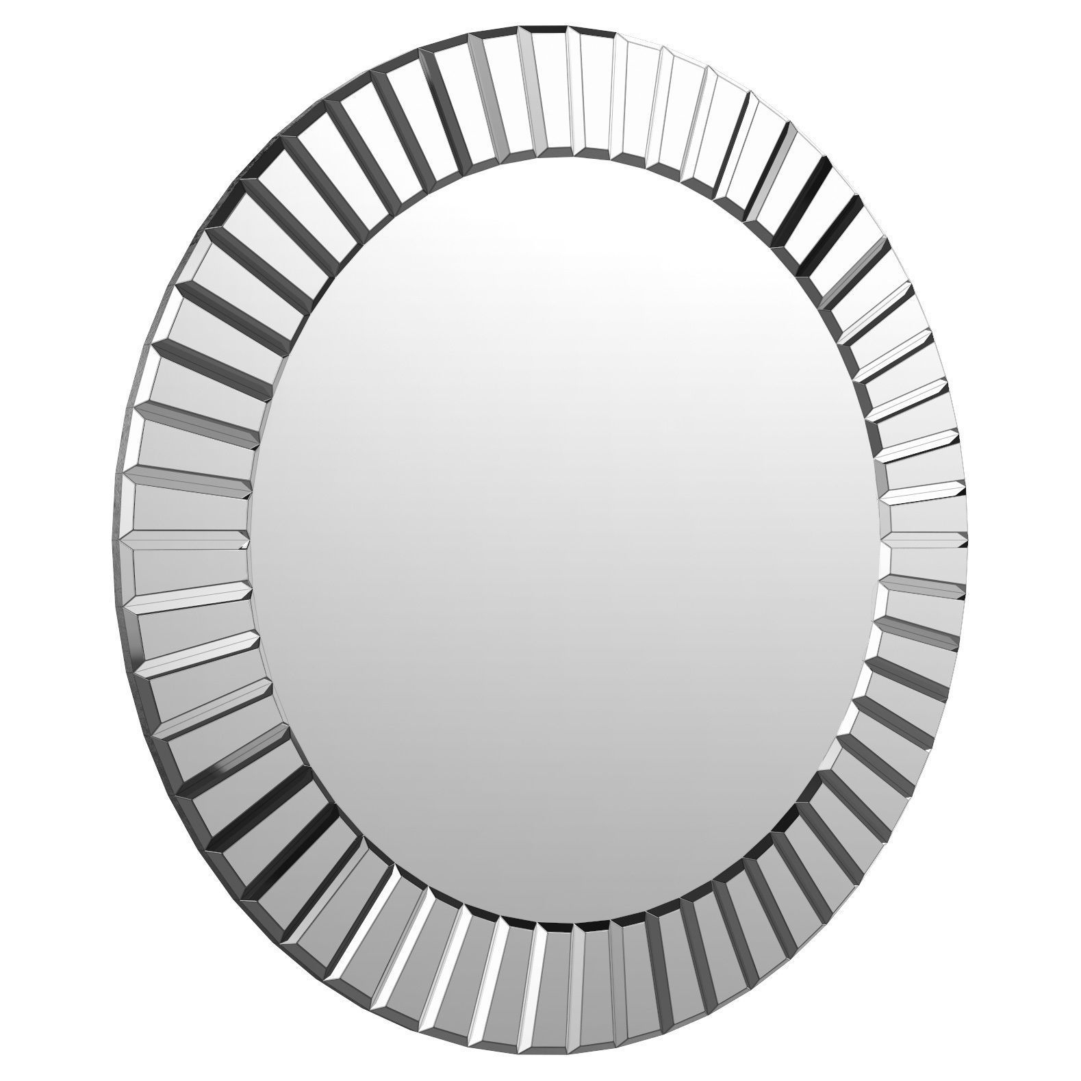Lidya Frameless Beveled Wall Mirror Wlao2357 | 3d Model For Lidya Frameless Beveled Wall Mirrors (View 2 of 30)