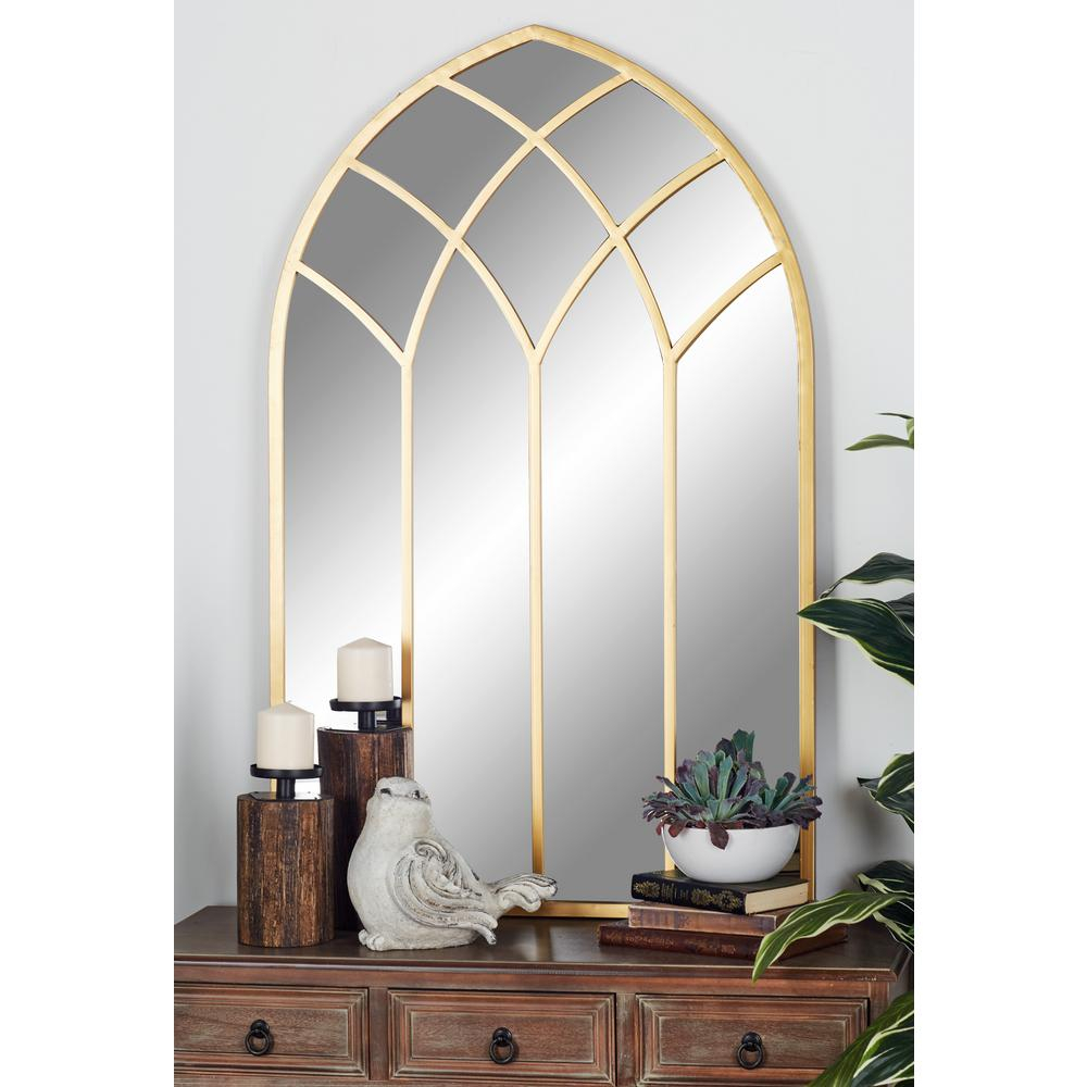 Popular Photo of Gold Arch Wall Mirrors