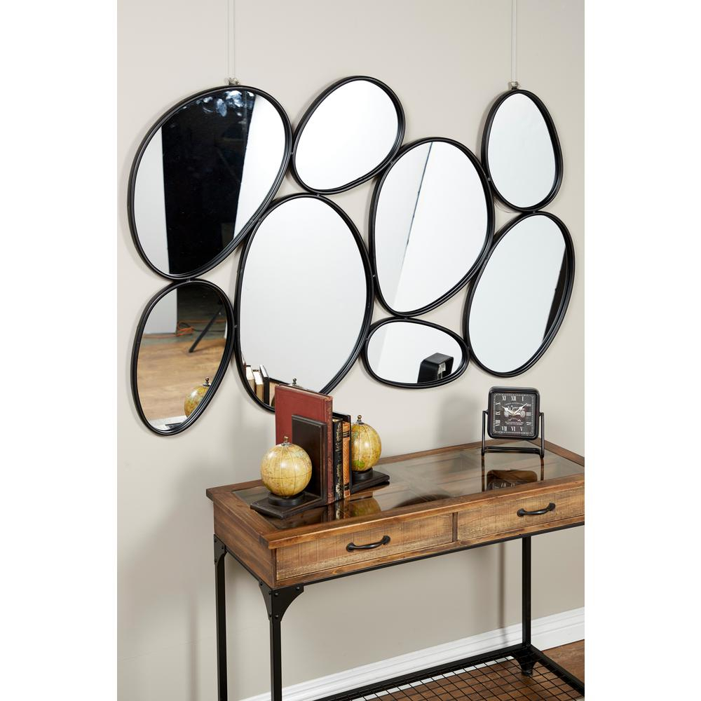 Litton Lane Contemporary Geometric Oval Mirrors Wall Decor for Contemporary Geometric Wall Decor (Image 21 of 30)