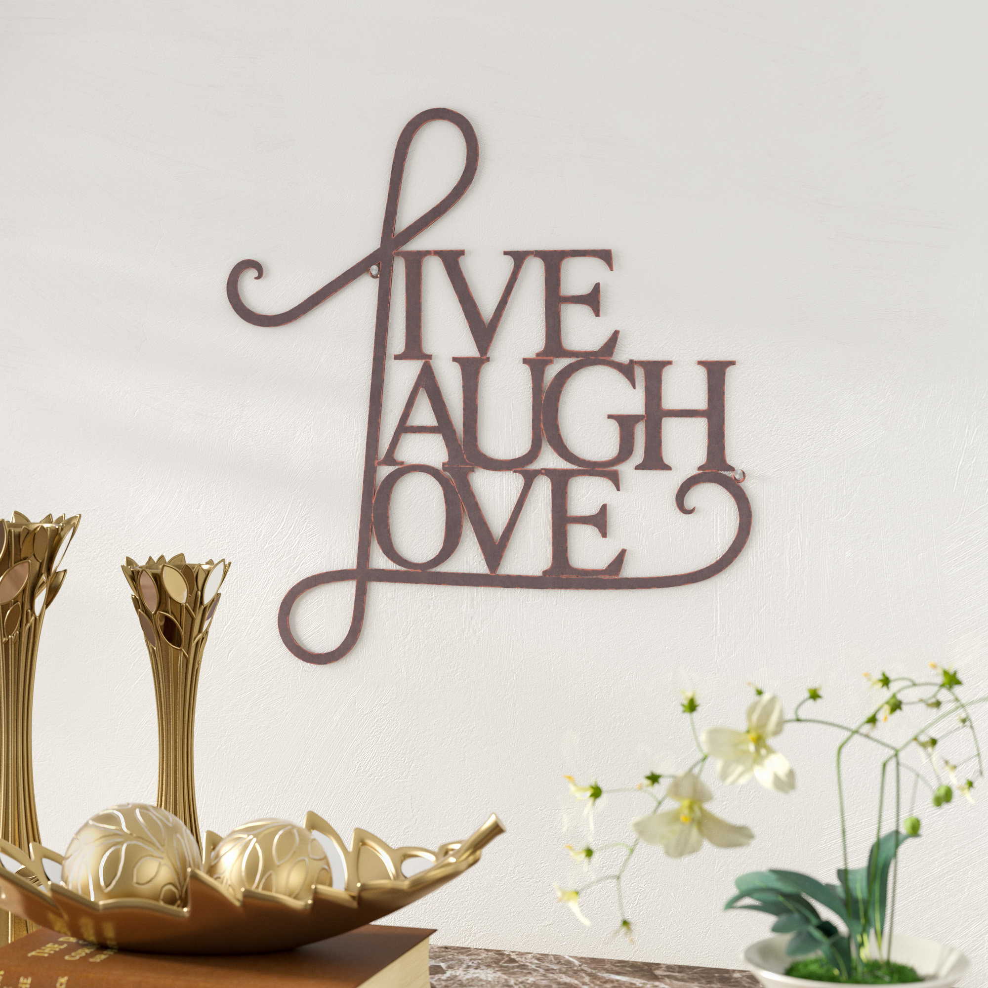Live, Laugh, Love Antique Copper Wall Decor With Regard To Live Love Laugh 3 Piece Black Wall Decor Sets (View 22 of 30)