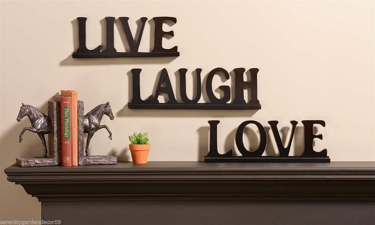 Live Laugh Love Bedroom Decor Regarding Live Love Laugh 3 Piece Black Wall Decor Sets (View 6 of 30)