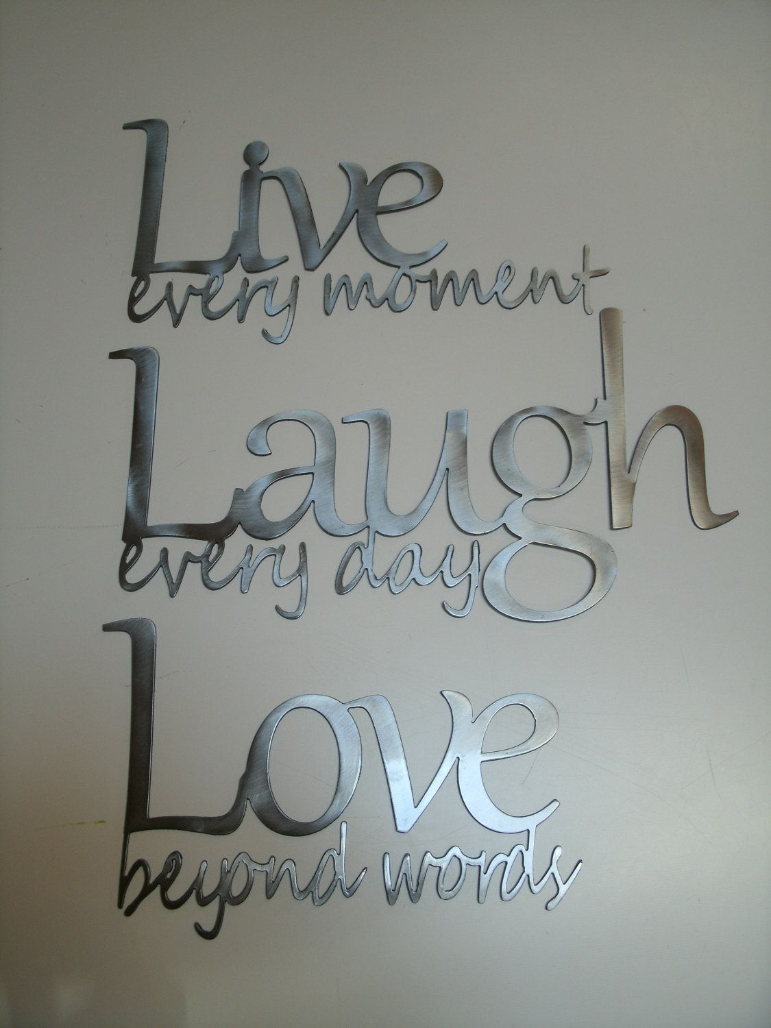 Live Laugh Love Metal Wall Art | For The Home + Diy & Other Throughout Live, Laugh, Love Antique Copper Wall Decor (View 6 of 30)