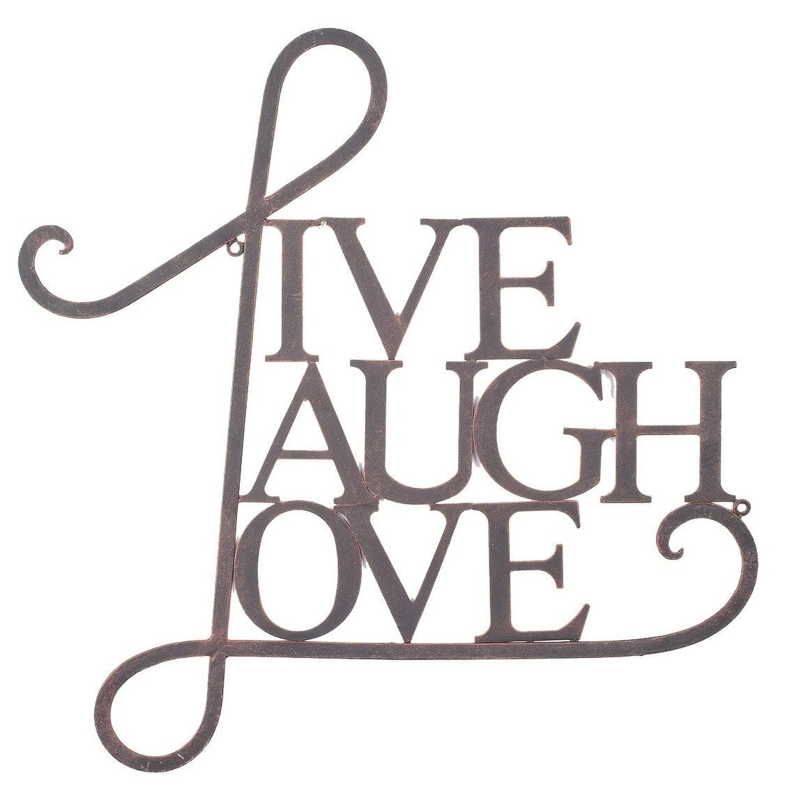 Live, Laugh, Love Wall Decor Antique Copper / White Finish Throughout Live, Laugh, Love Antique Copper Wall Decor (View 3 of 30)