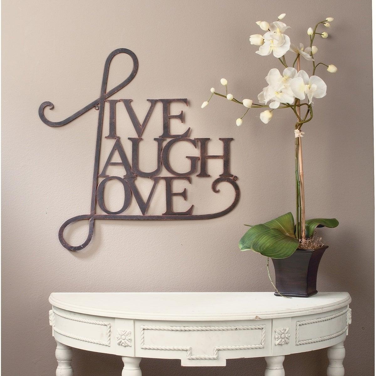 Live, Laugh, Love Wall Decor Antique Copper / White Finish Within Live, Laugh, Love Antique Copper Wall Decor (View 2 of 30)