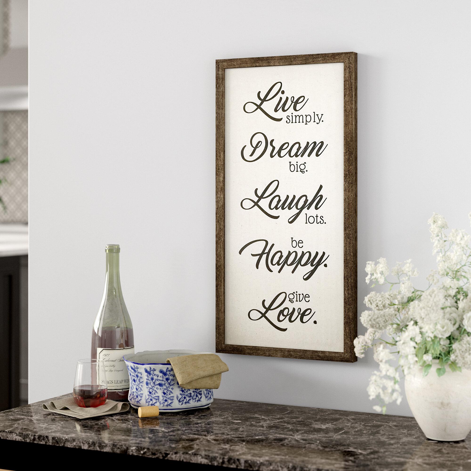 Live Laugh Love Wall Decor | Wayfair Regarding Live, Laugh, Love Antique Copper Wall Decor (View 14 of 30)