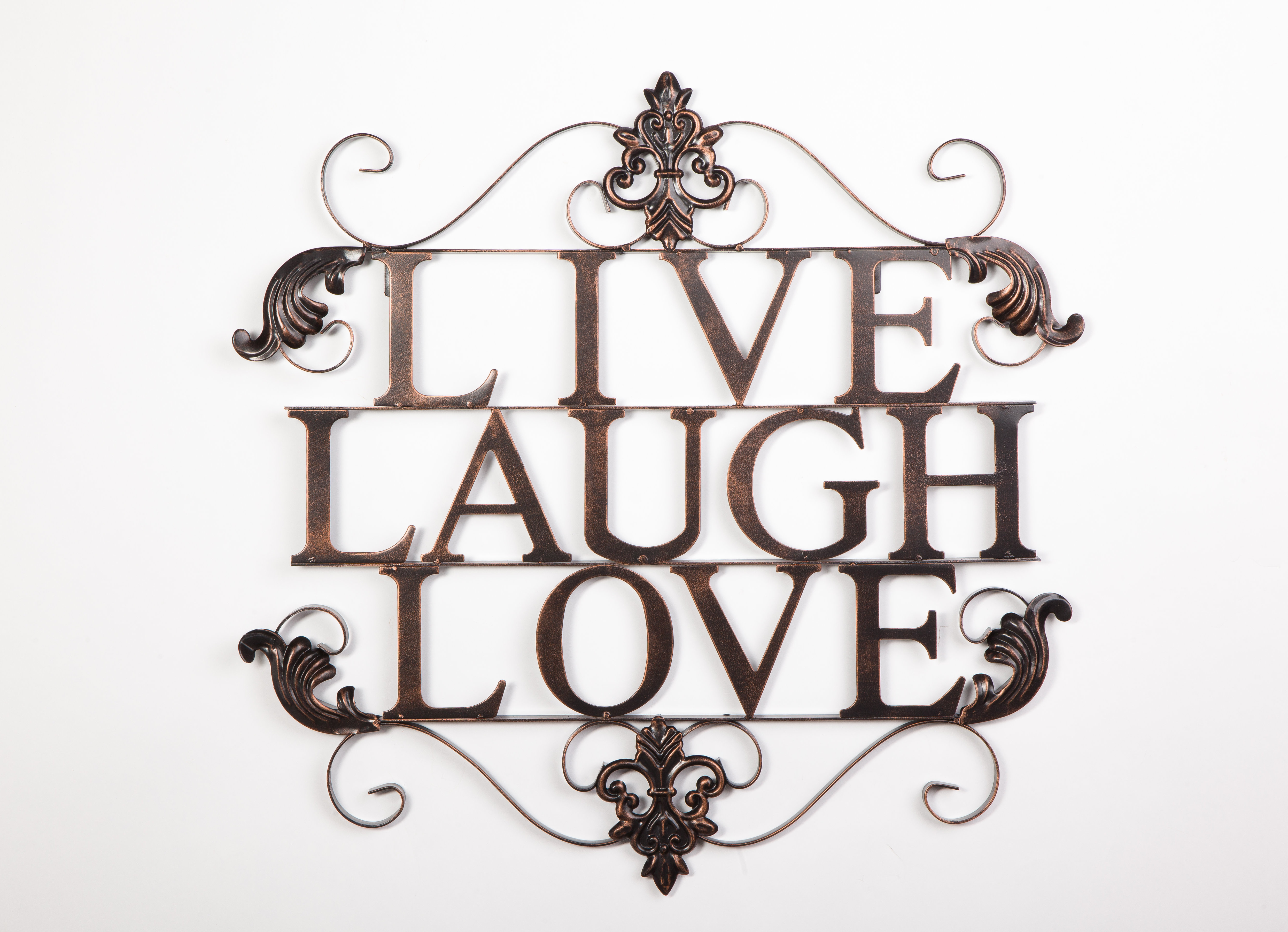 Live Love Laugh Wall Art | Wayfair With Live, Laugh, Love Antique Copper Wall Decor (View 15 of 30)