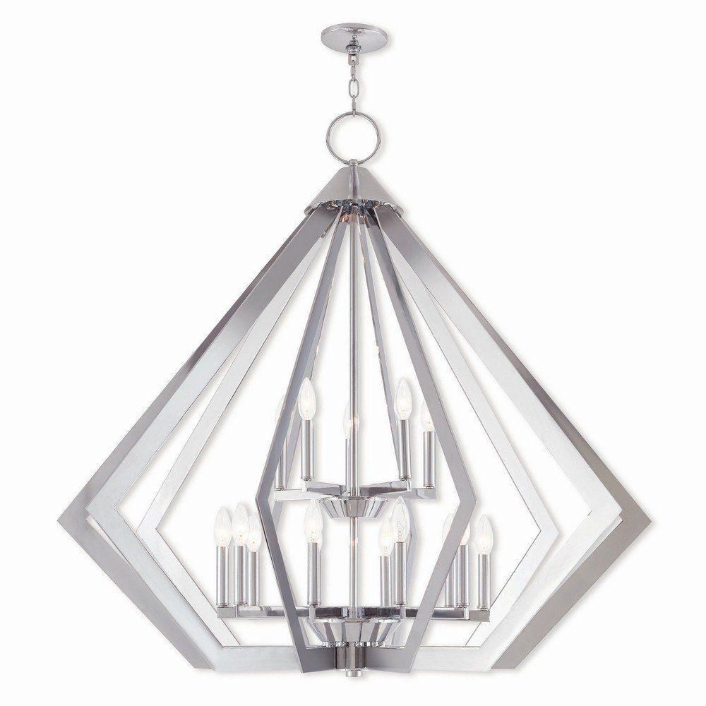 Livex Lighting 40928 05 Prism – Fifteen Light 2 Tier Foyer Intended For Everett 10 Light Sputnik Chandeliers (View 21 of 30)