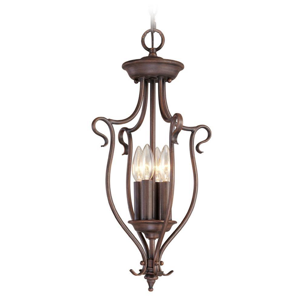 Livex Lighting Coronado Imperial Bronze Pendant Light | For Throughout Warner Robins 3 Light Lantern Pendants (View 10 of 30)