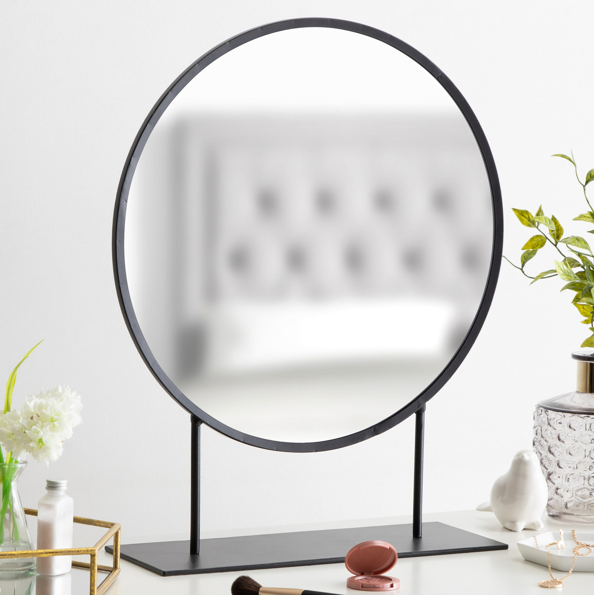 Loftin Modern Glam Round Beveled Accent Mirror Intended For Glam Beveled Accent Mirrors (View 10 of 30)