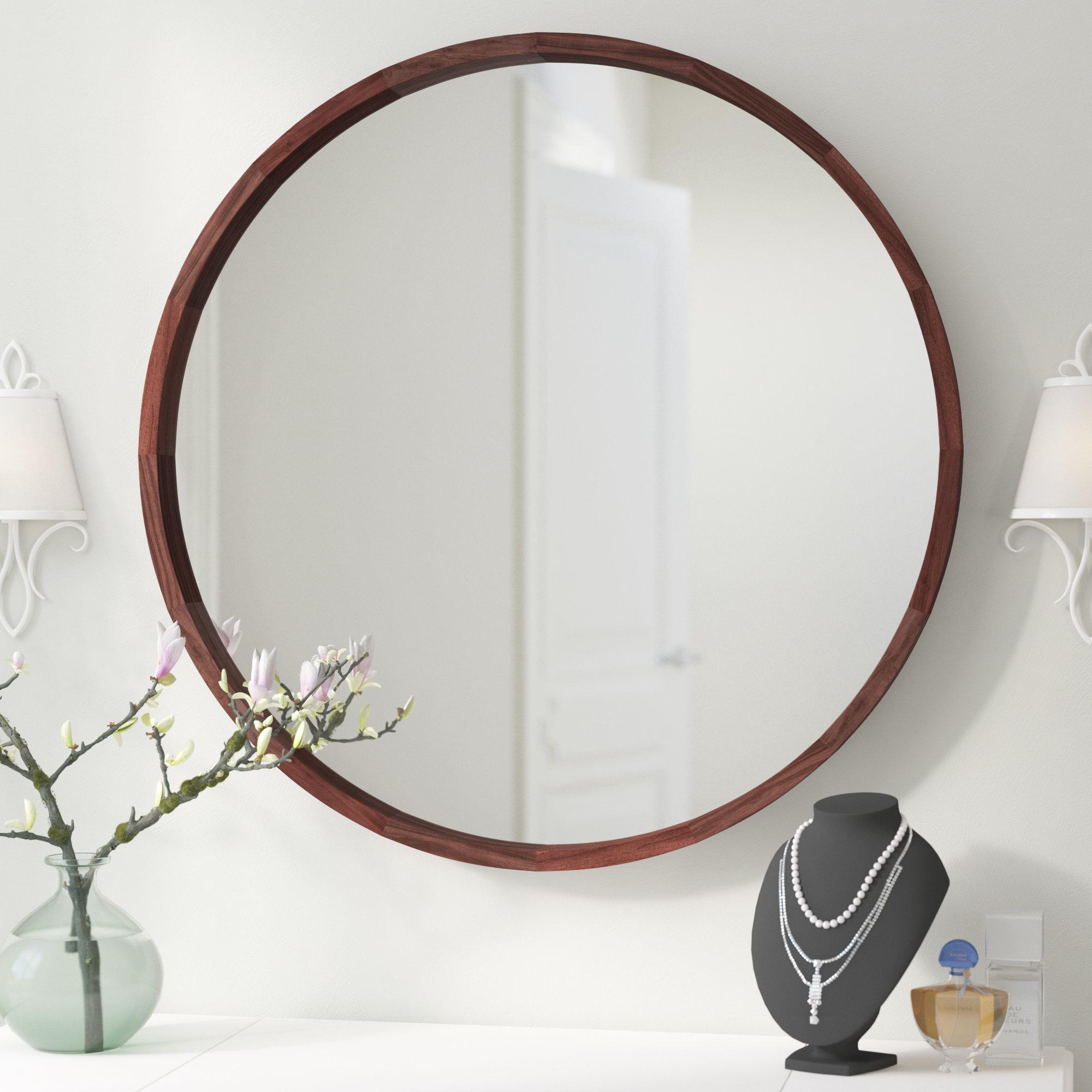 Loftis Modern & Contemporary Accent Wall Mirror throughout Minerva Accent Mirrors (Image 15 of 30)