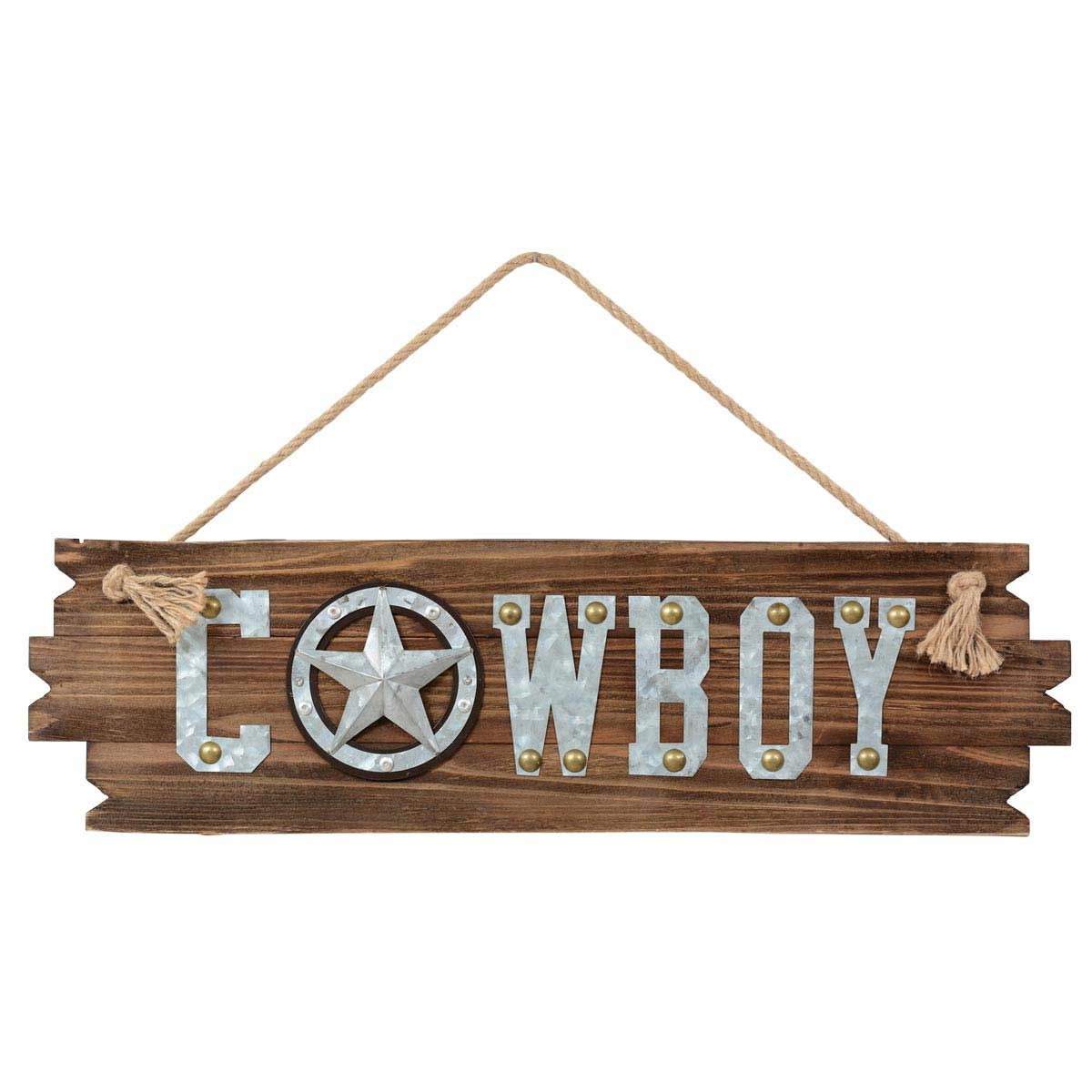 Lone Star Cowboy Wood Wall Art – Clearance Regarding Metal Rope Wall Sign Wall Decor (View 20 of 30)