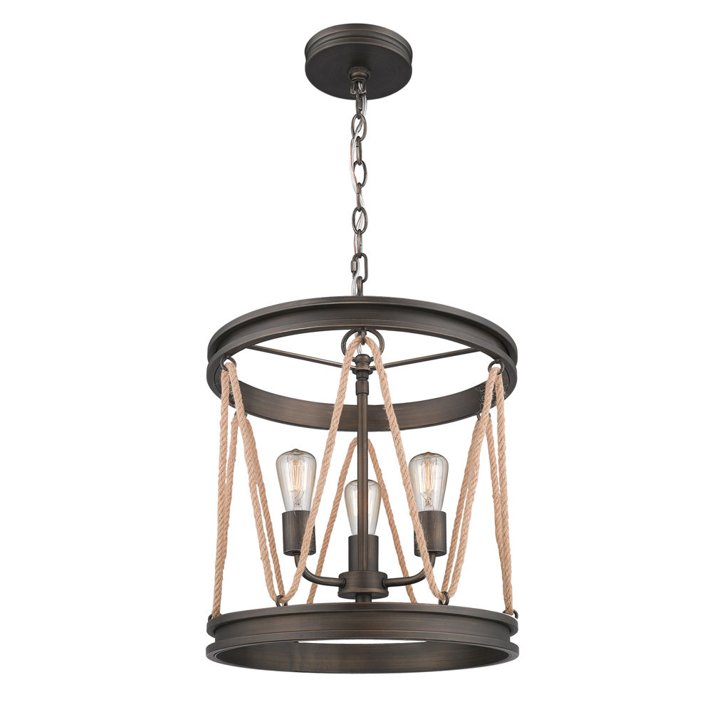 Longfellow 3 Light Cylinder Pendant With 3 Light Lantern Cylinder Pendants (View 14 of 30)