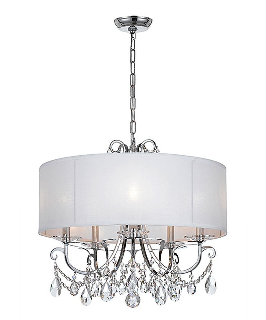 Look At This Polished Chrome Five Light Chandelier On Throughout Abel 5 Light Drum Chandeliers (Image 20 of 30)