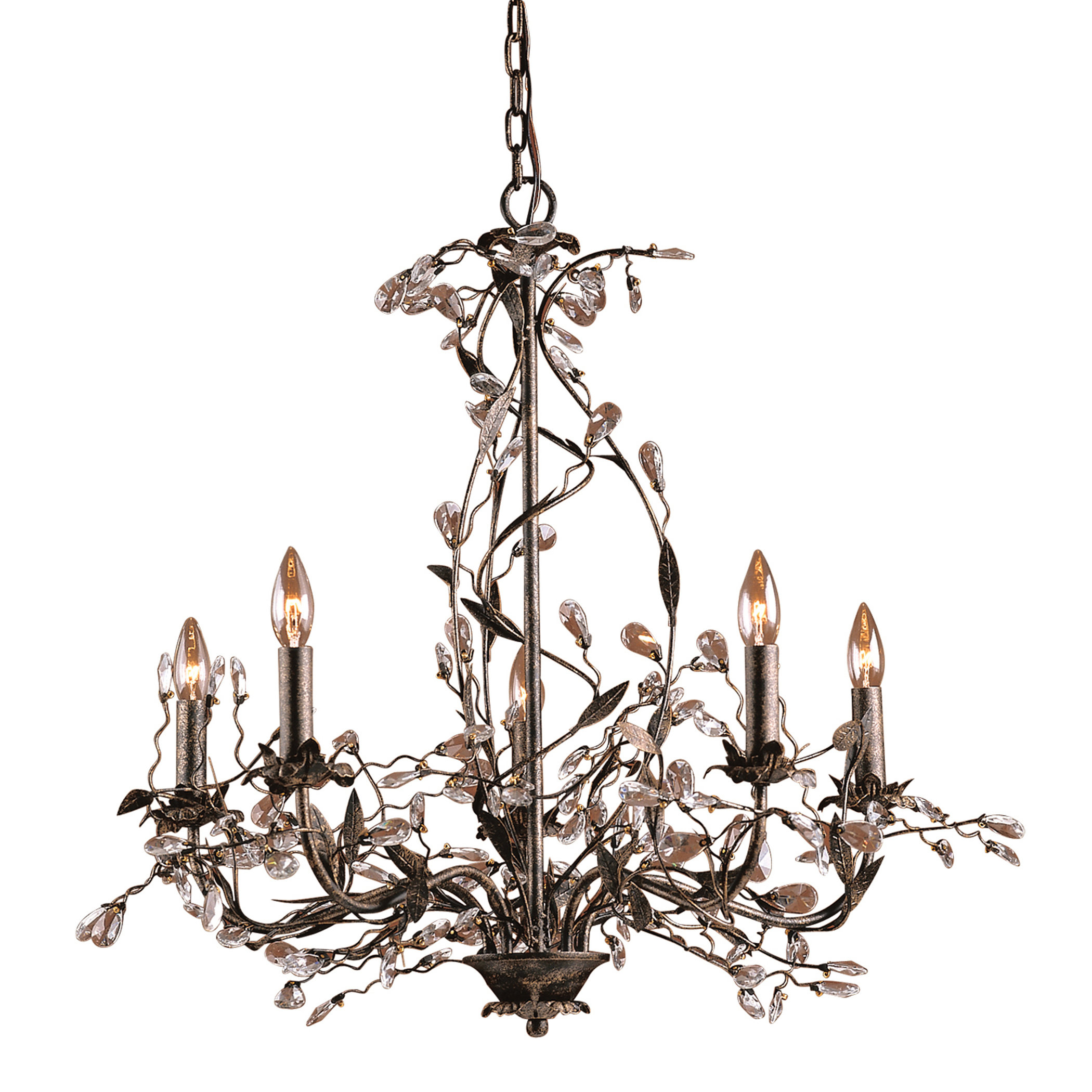 Lorraine 5 Light Chandelier Pertaining To Hesse 5 Light Candle Style Chandeliers (View 21 of 30)