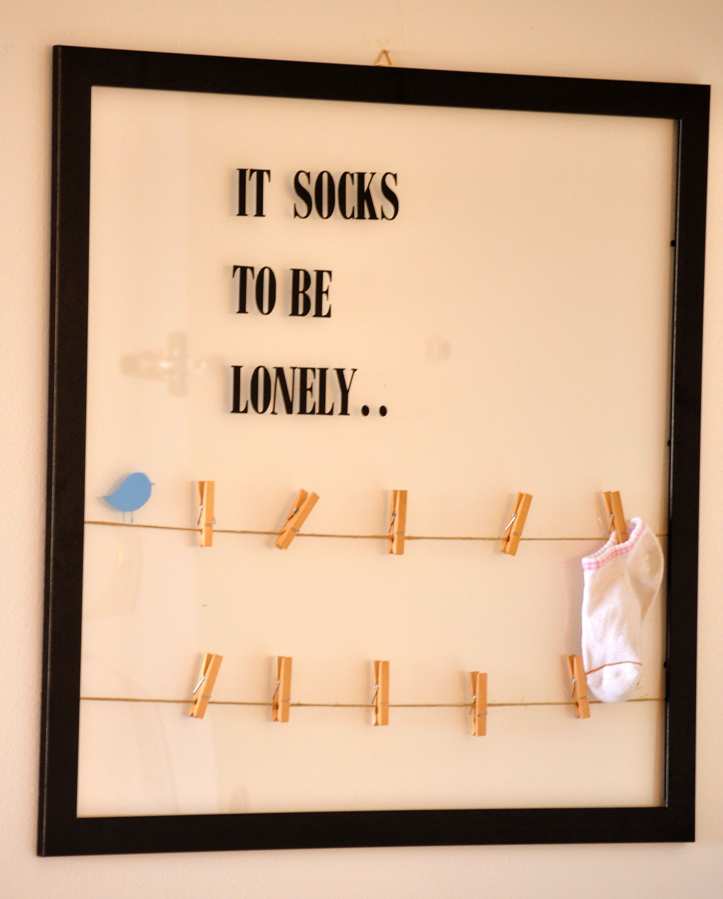 Lost Socks Frame..cute Idea For Inside The Laundry Rm pertaining to Metal Laundry Room Wall Decor By Winston Porter (Image 17 of 30)