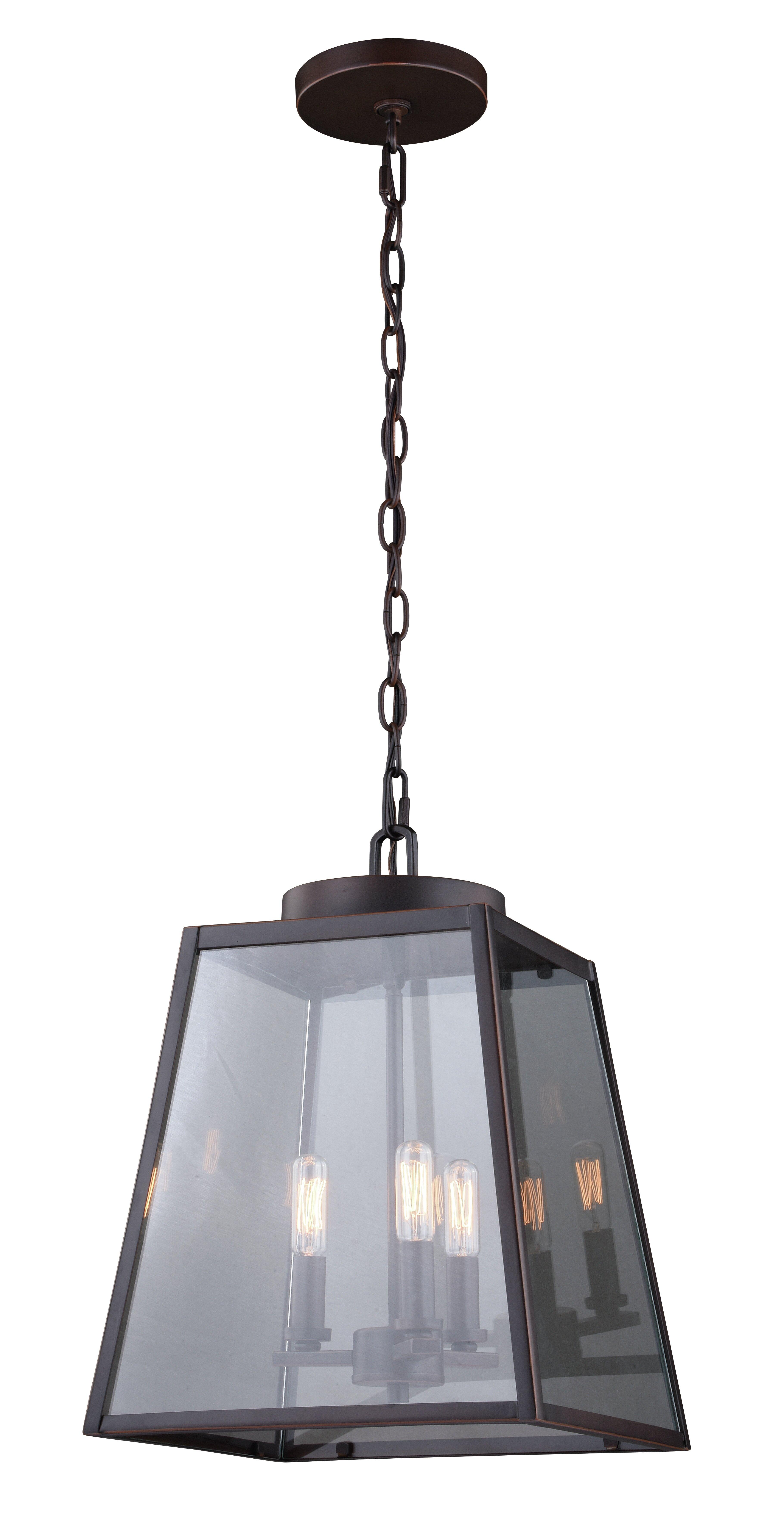 Louanne 3 Light Lantern Geometric Pendant & Reviews | Joss Pertaining To 3 Light Lantern Cylinder Pendants (View 21 of 30)